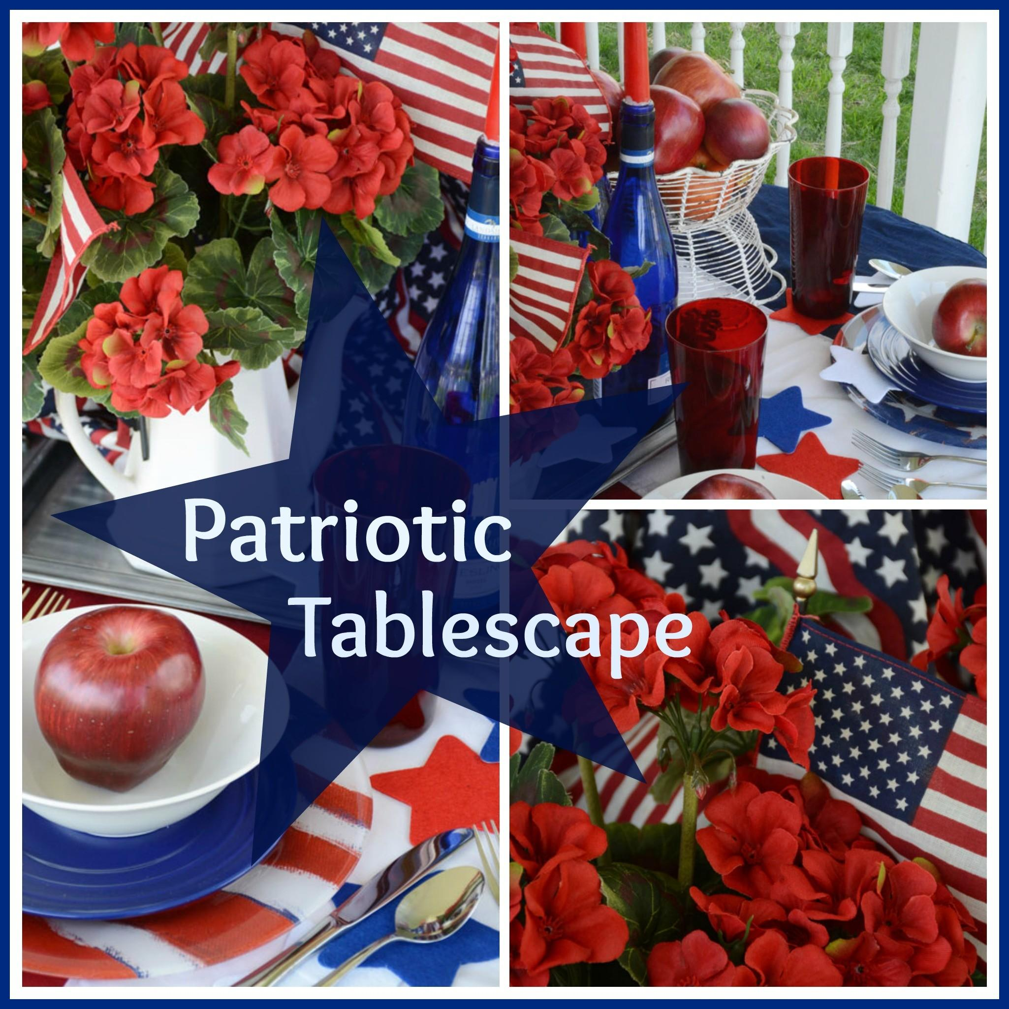 Patriotic Tablescape Celebrate Holiday