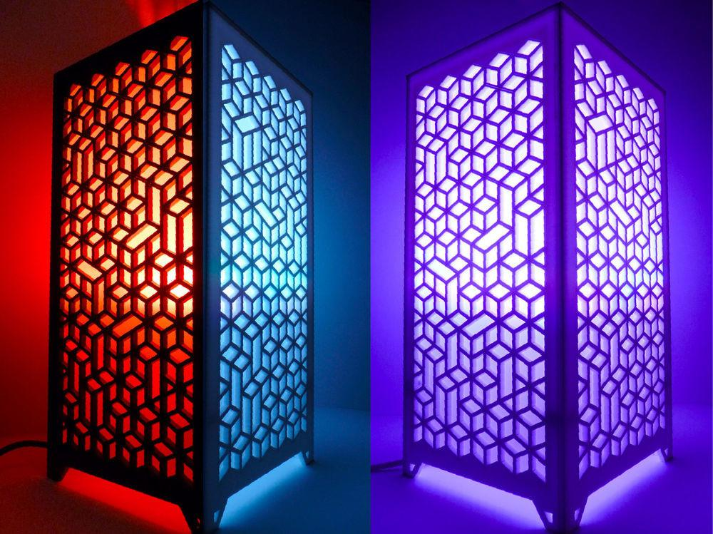 Pattab Laser Cut Acrylic Table Hanging Lamp Volumes
