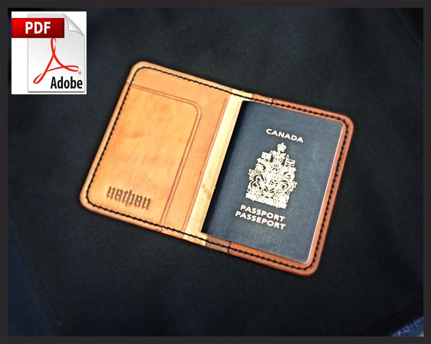 Pattern Leather Passport Cover