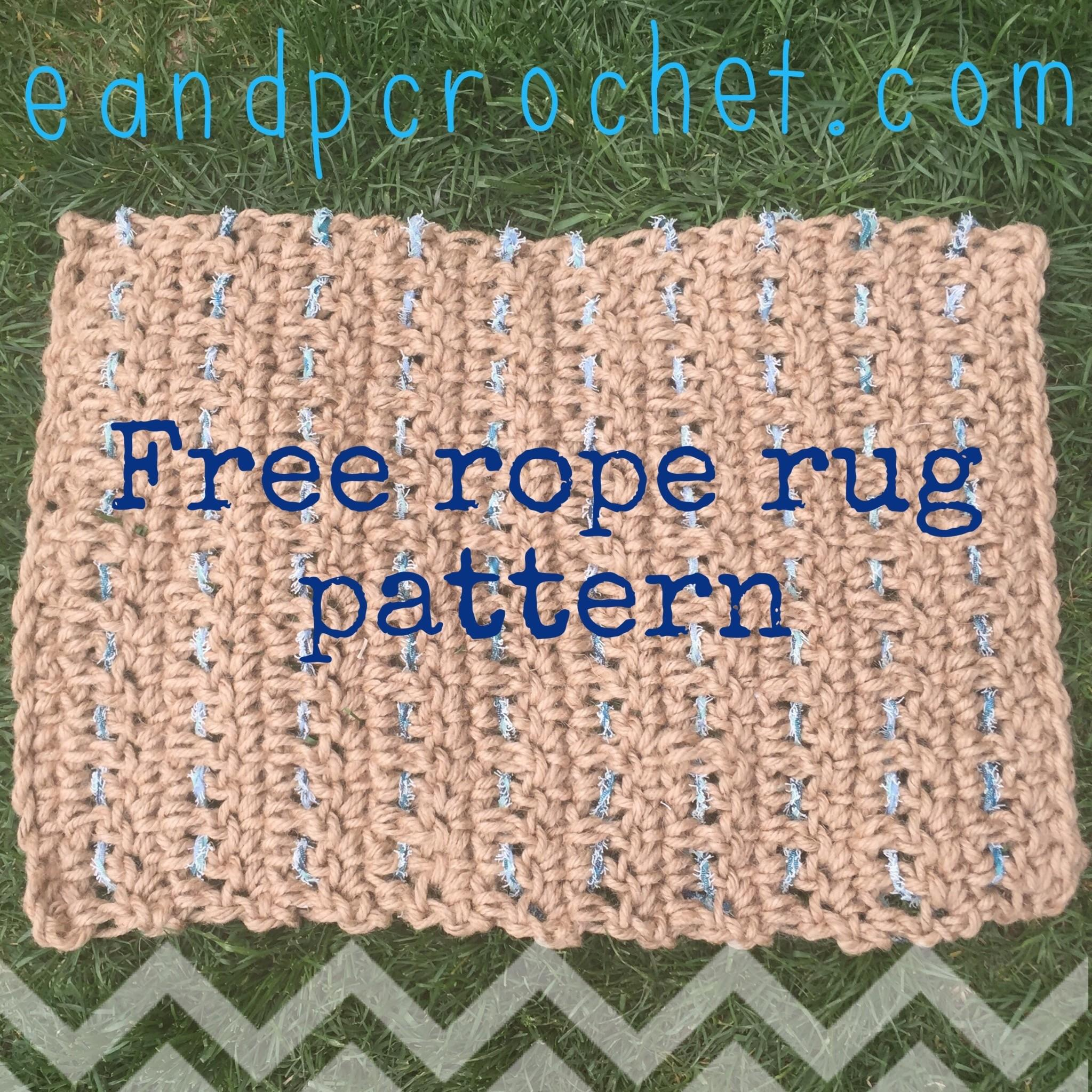 Pattern Outdoor Crochet Rope Rug Evelyn Peter