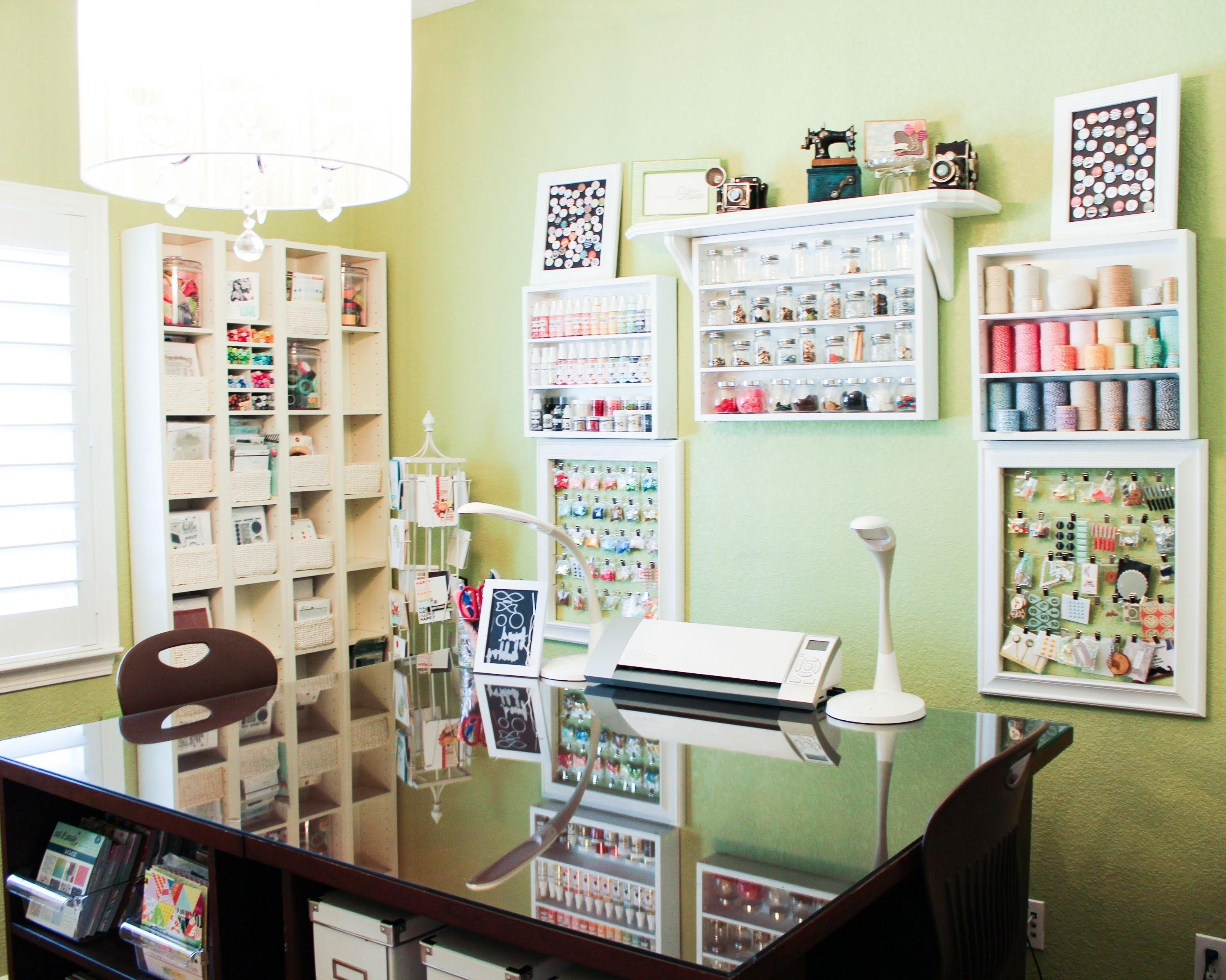 Patterned Paper Organization Craft Room