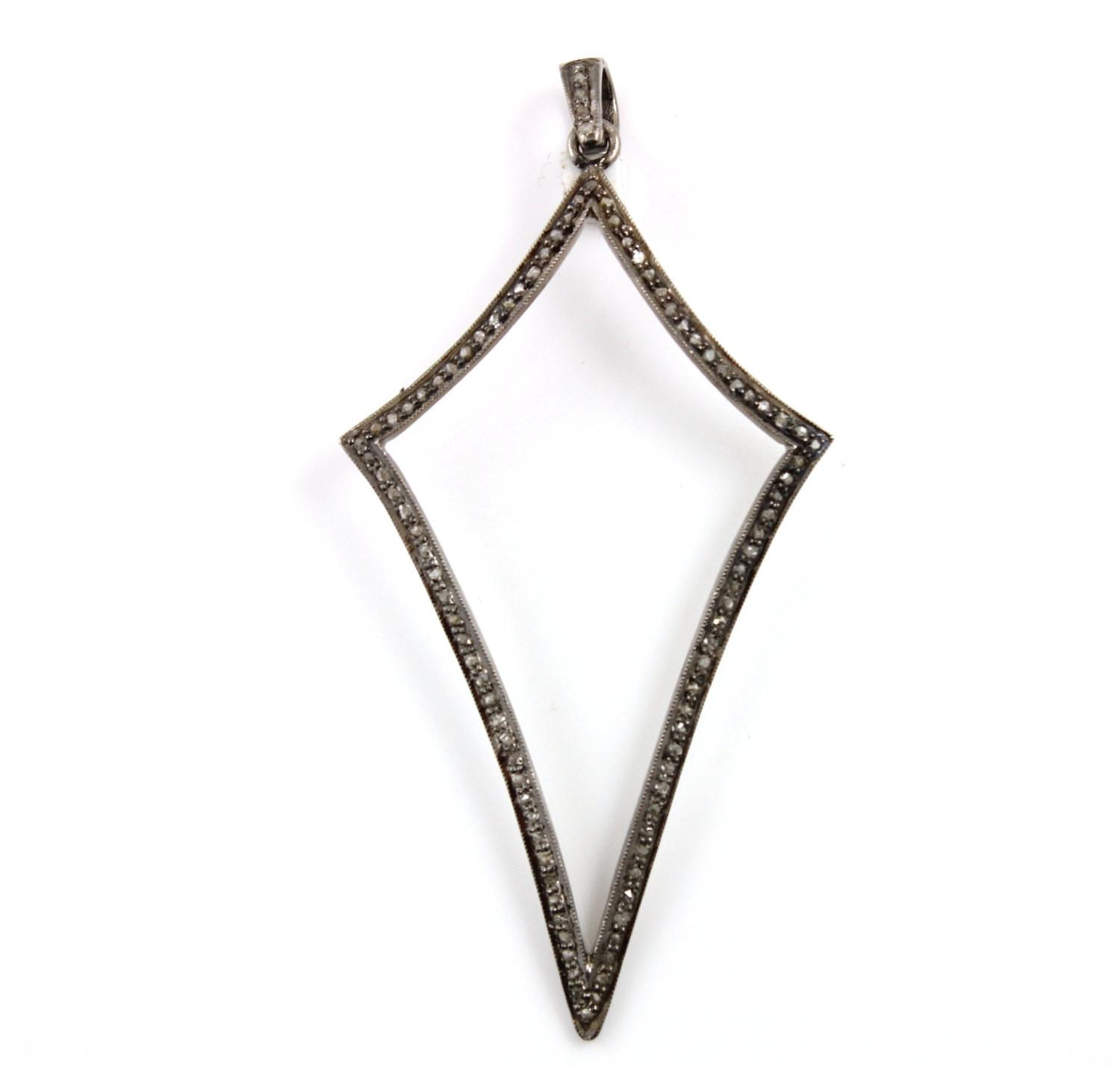 Pave Diamond Pendant Kite