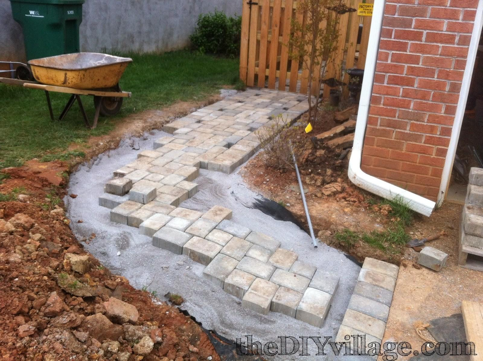 Paver Path Hard Work But Worth Every Sore Muscle