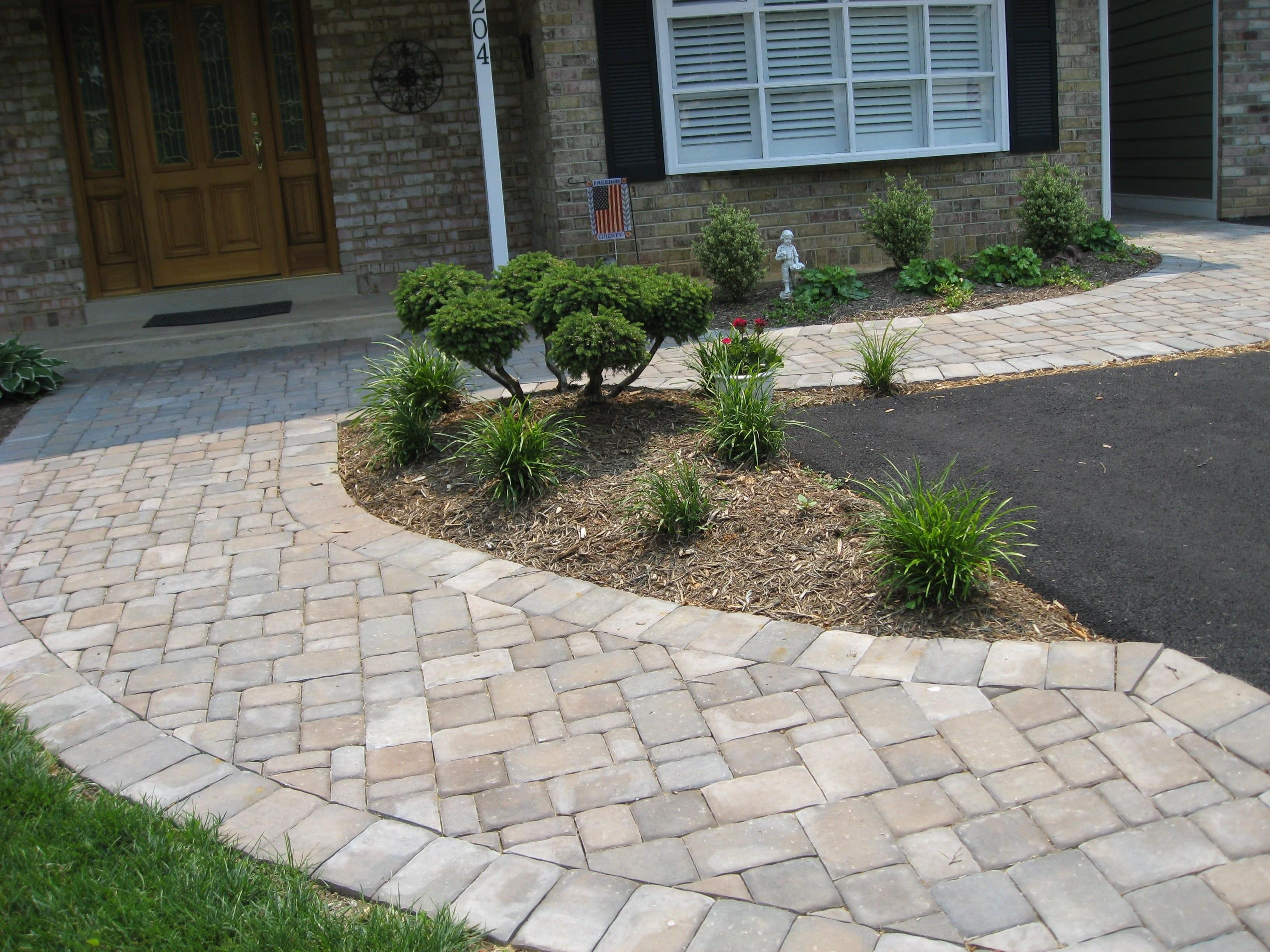Paver Walkway Patterns Concrete Sidewalks Patios