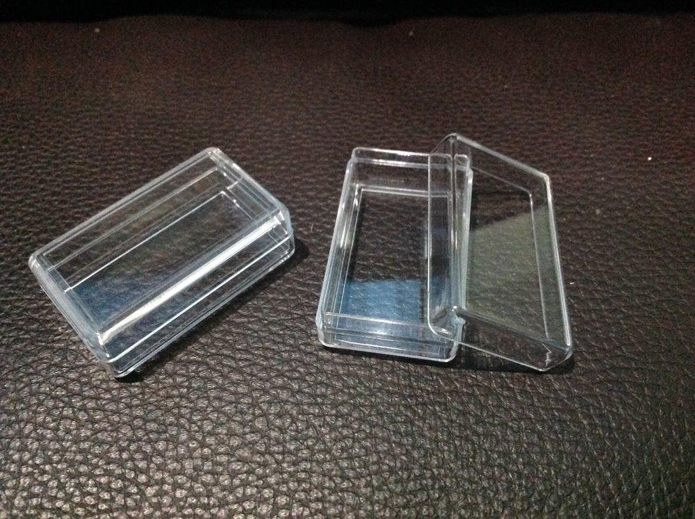 Pcs Small Clear Rectangle Plastic Storage Container Box