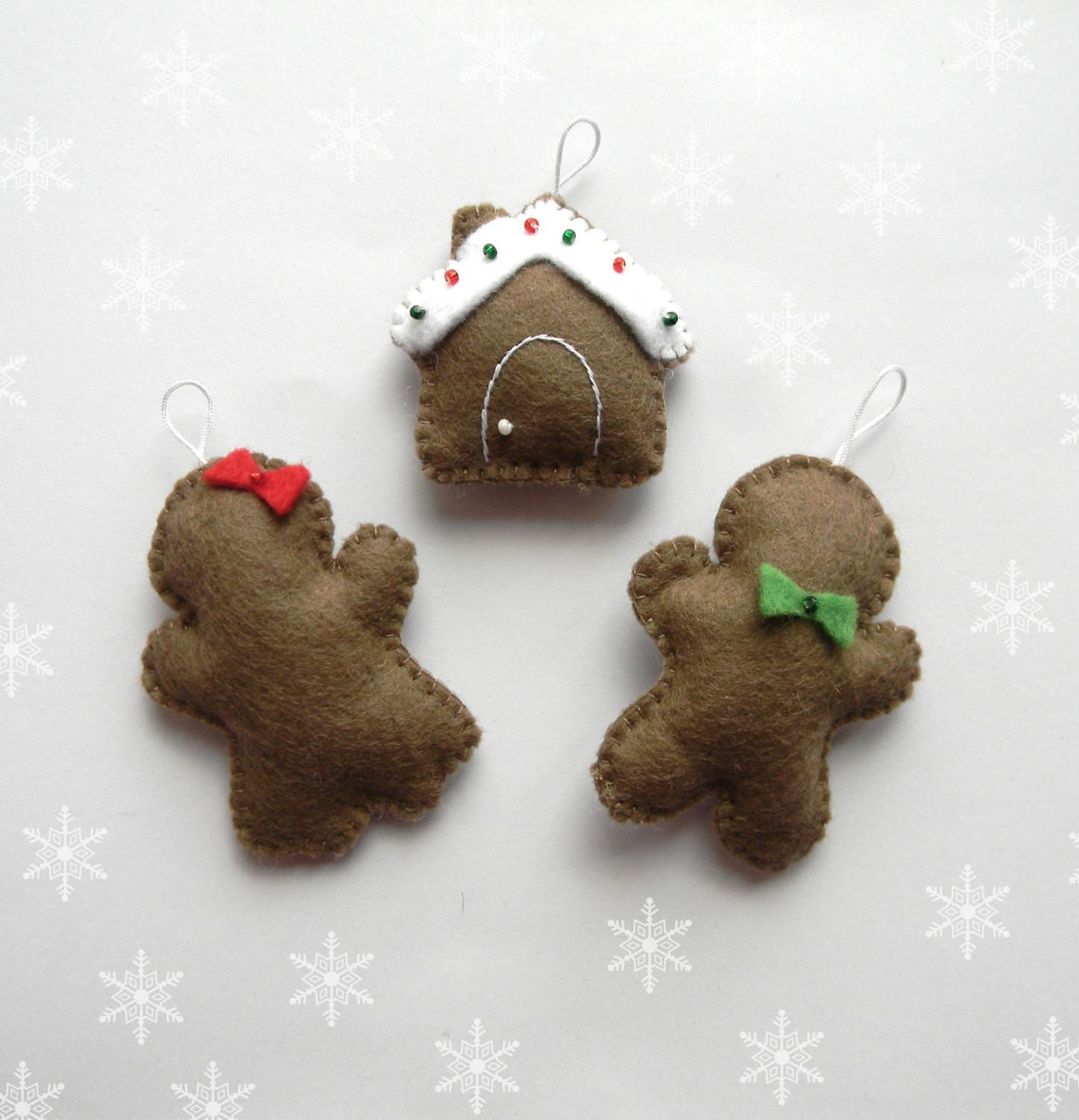 Pdf Pattern Easy Christmas Ornaments Gingerbread