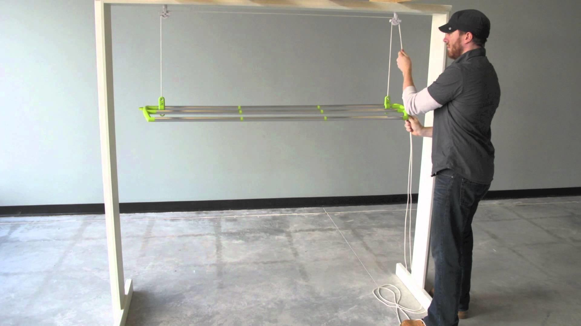 Pdf Plans Ceiling Clothes Drying Rack Diy