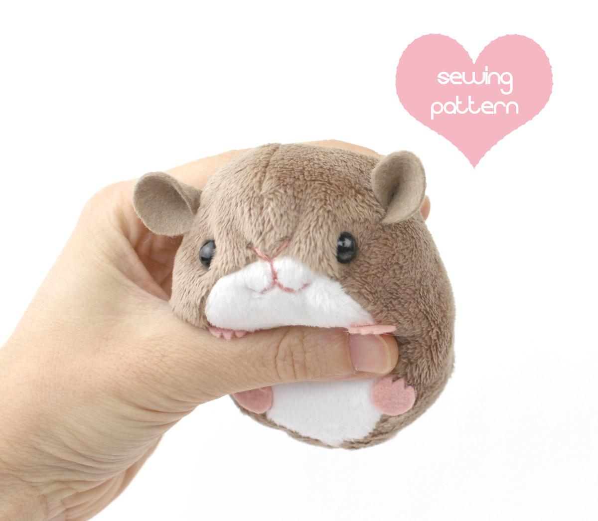 Pdf Sewing Pattern Plush Hamster Mouse Rat Guinea Pig Rodent