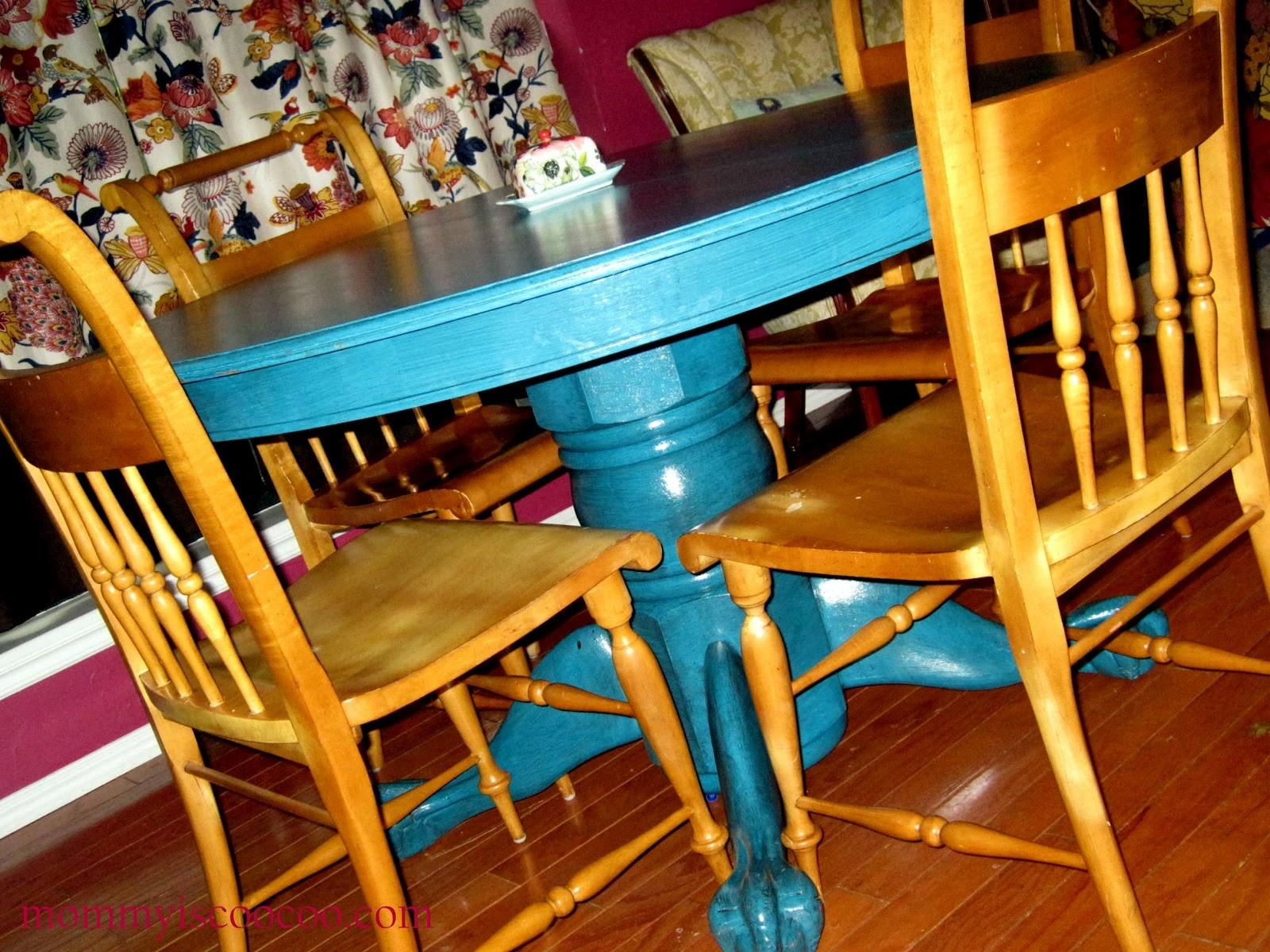 Peacock Blue Painted Glazed Table Tutorial Diy Show