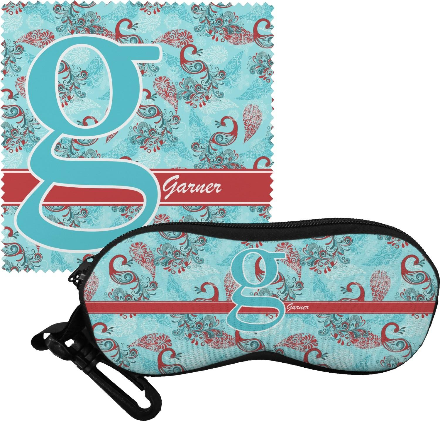 Peacock Eyeglass Case Cloth Personalized