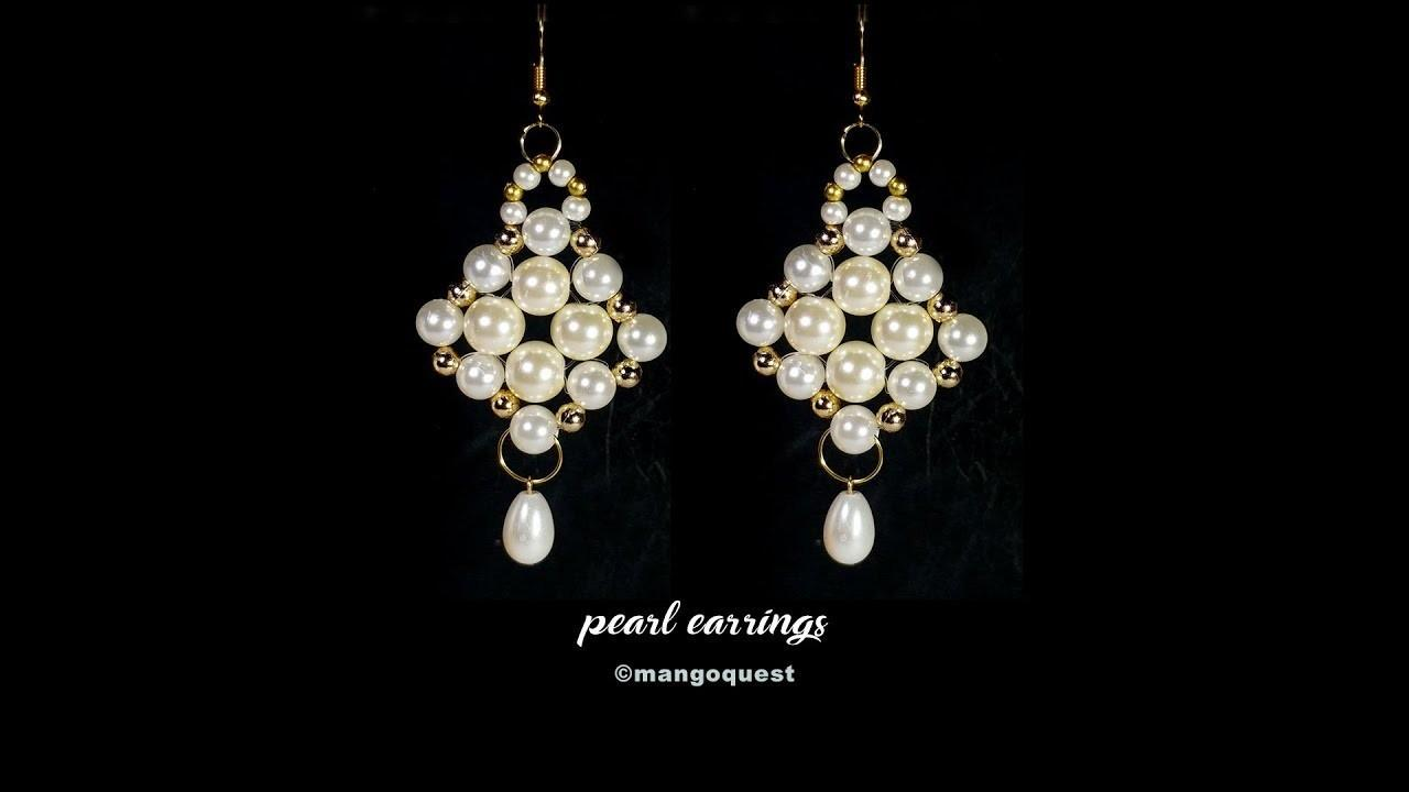 Pearl Earrings Tutorial Quick Easy Fashion Jewelry Diy