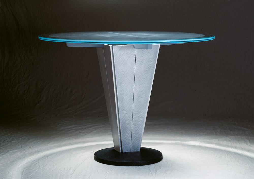 Pedestal Dining Table Small Round Glass