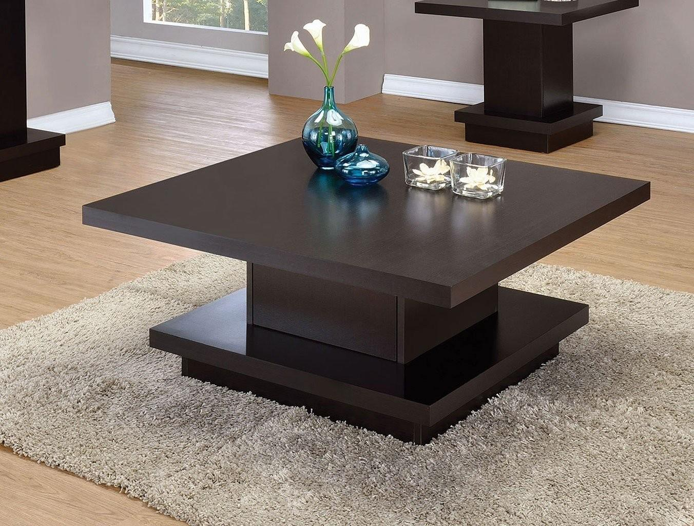 Pedestal Style Coffee Table Cocktail Tables