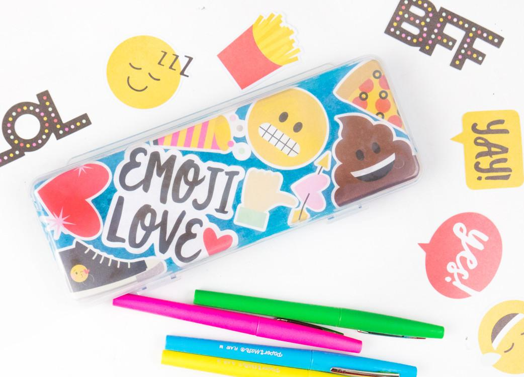 Pencil Case Diy Back School Emoji Craft Consumer Crafts