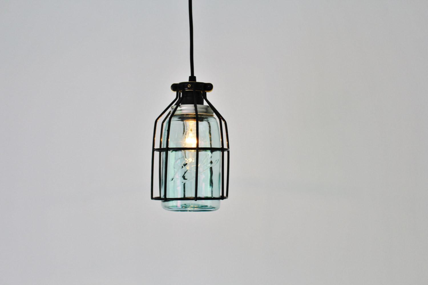 Pendant Light Black Cage Hanging Lamp Antique Early