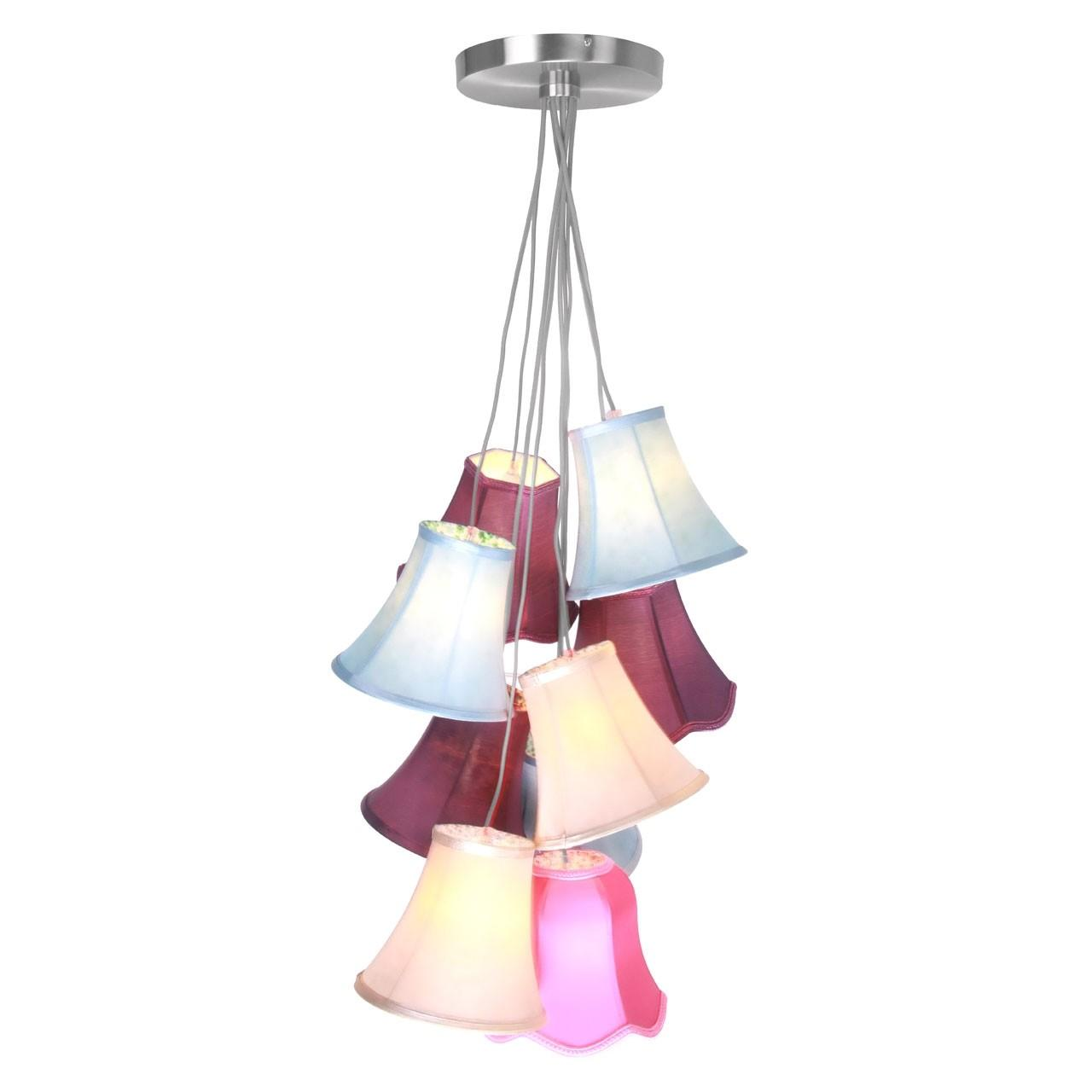 Pendant Light Tiered Multi Coloured Shades Ceiling