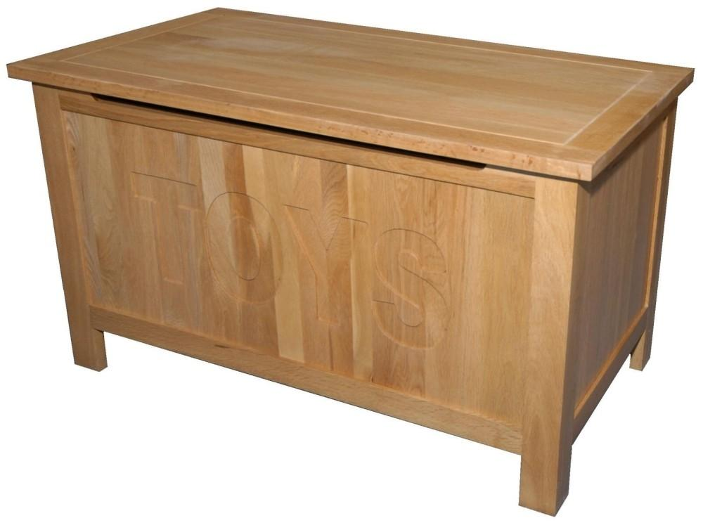 Pennine Solid Oak Furniture Blanket Toy Storage Box