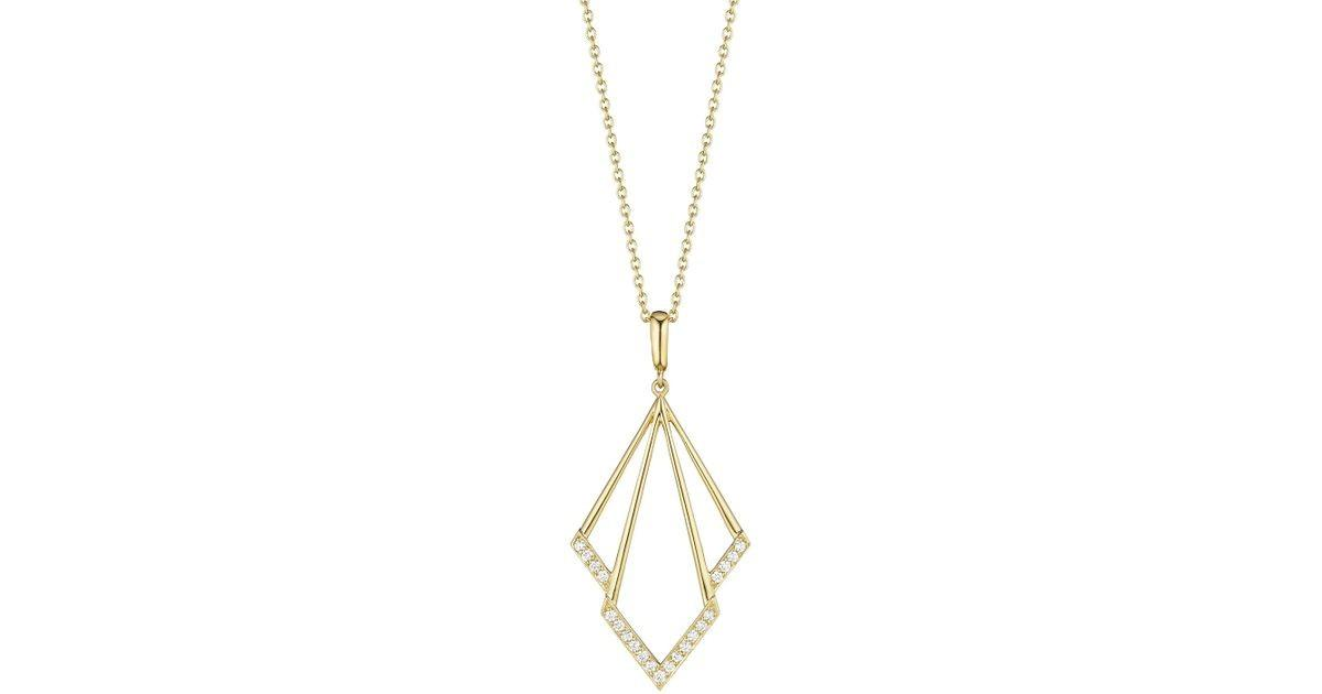 Penny Preville Geometric Diamond Pendant Necklace