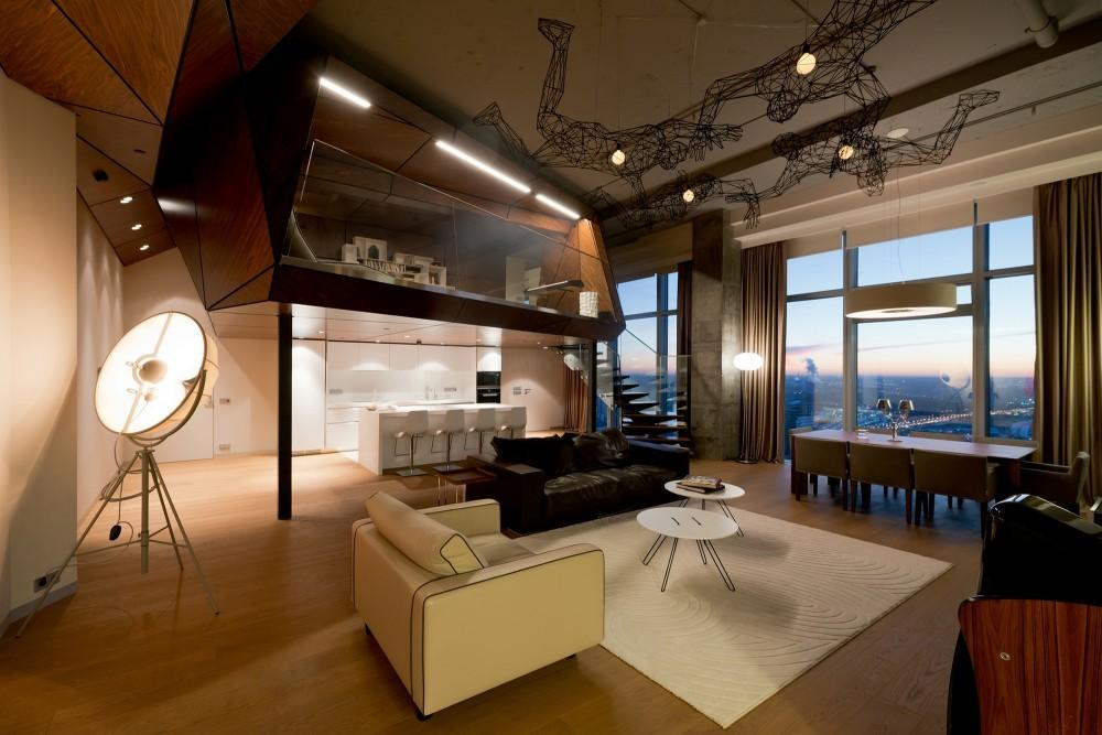 Penthouse Apartment Moscow Looks Over Entire City