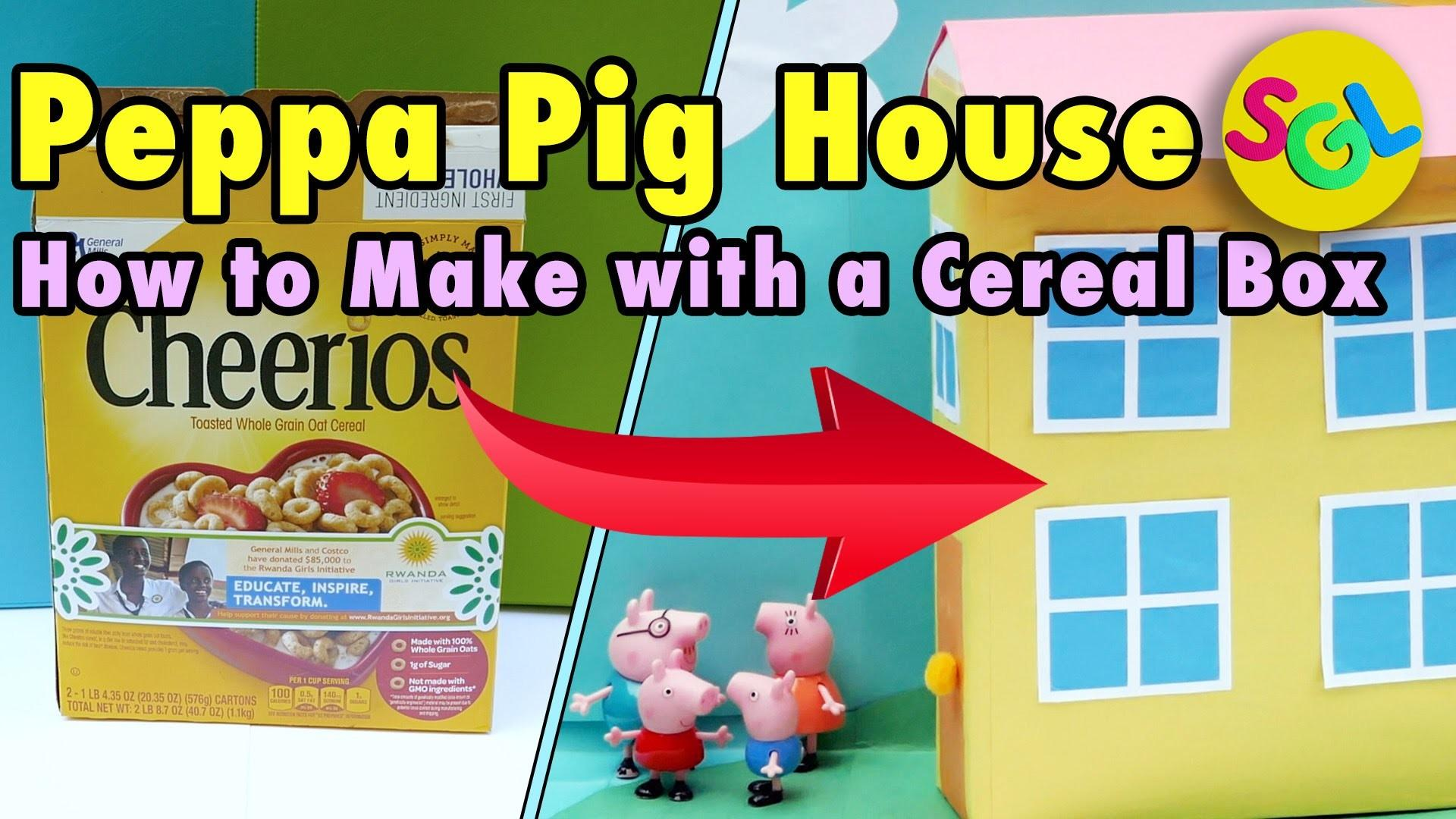 Peppa Pig House Kids Crafts Diy Make