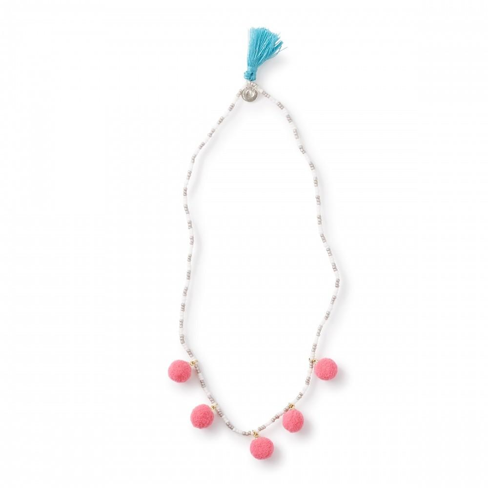 Peppercorn Kids Pom Tassel Necklace Tea Collection