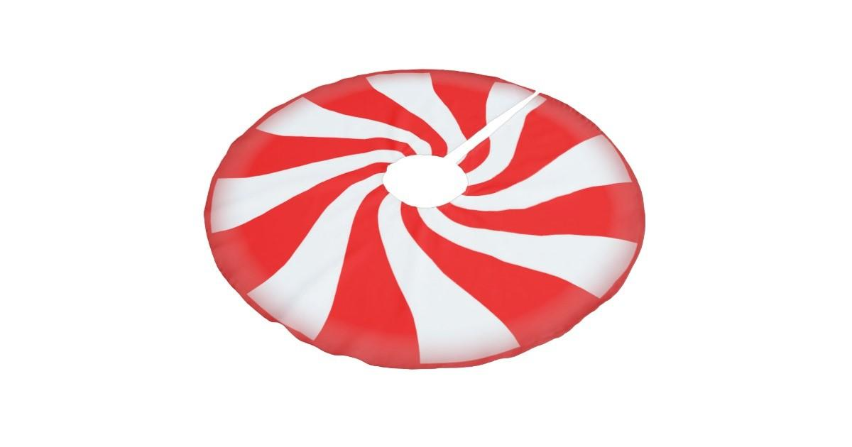 Peppermint Candy Brushed Polyester Tree Skirt Zazzle