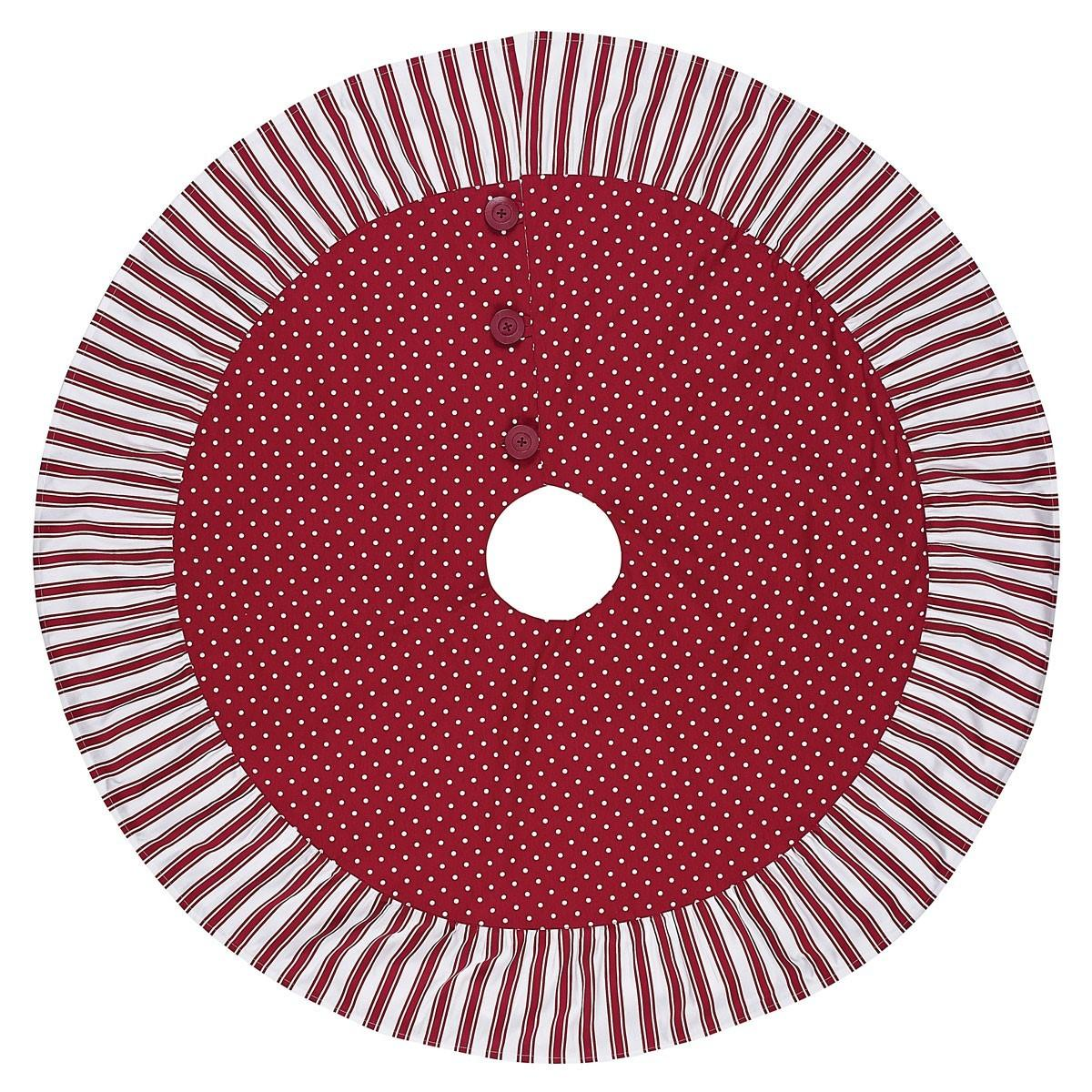 Peppermint Candy Inch Tree Skirt Jet