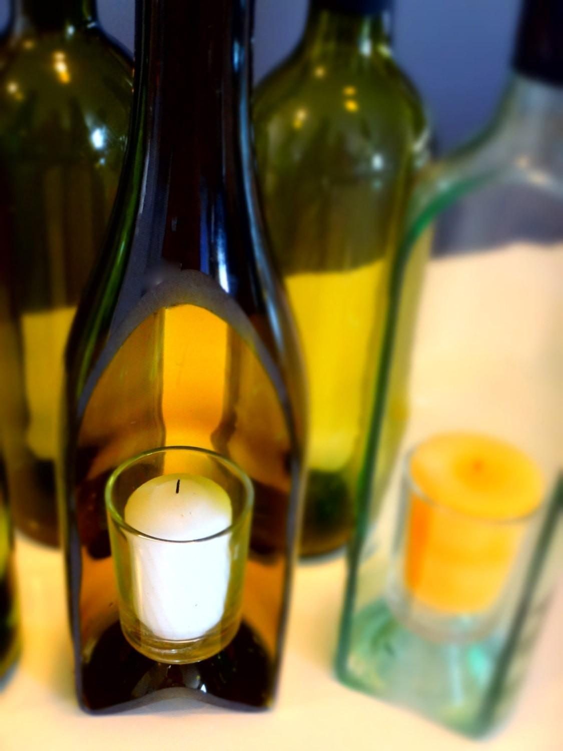 Perfect Diy Wine Bottle Candle Holder Have Some