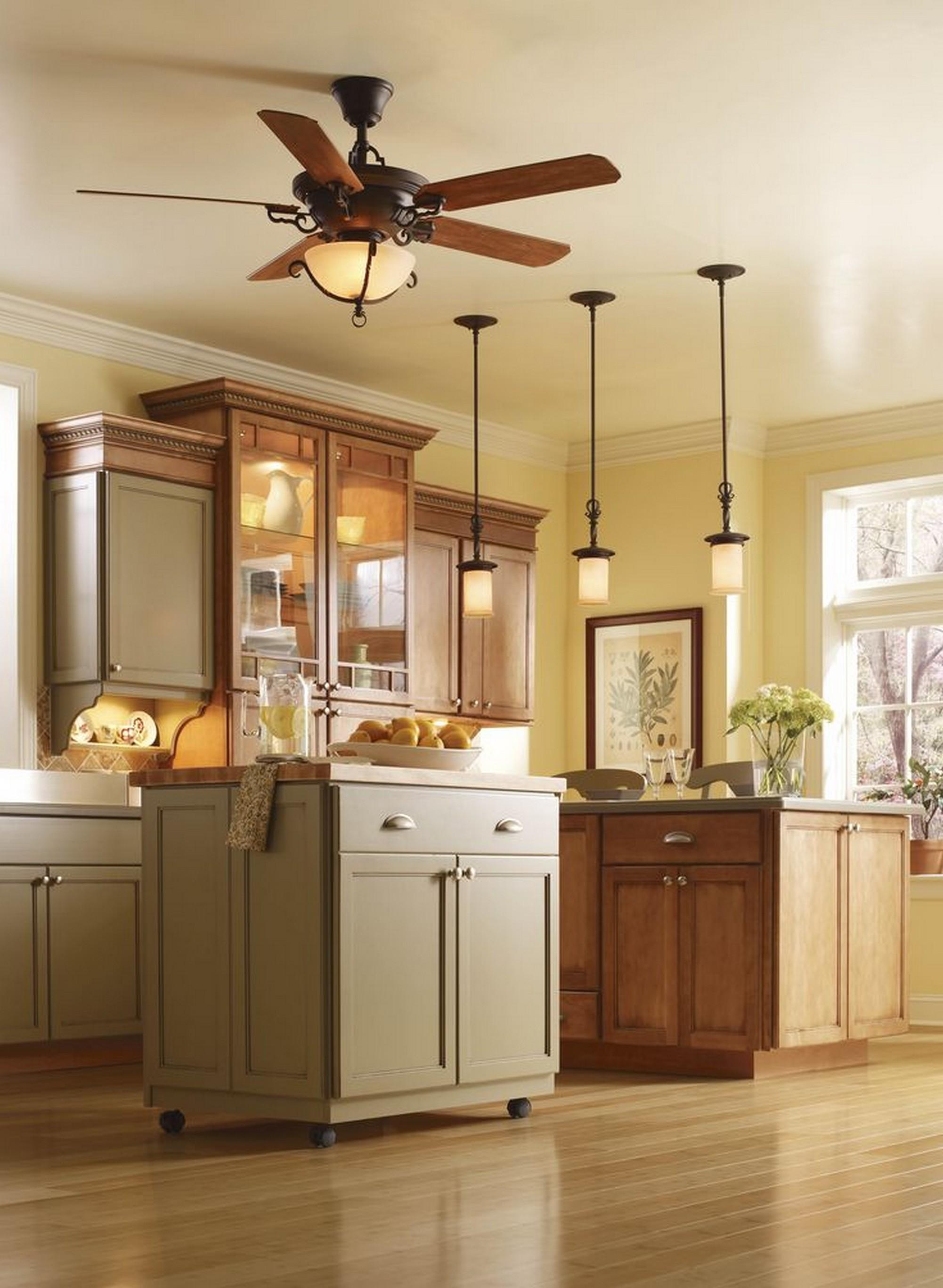 Perfect Fan Kitchen Ceiling Ideas Hanging Lighting
