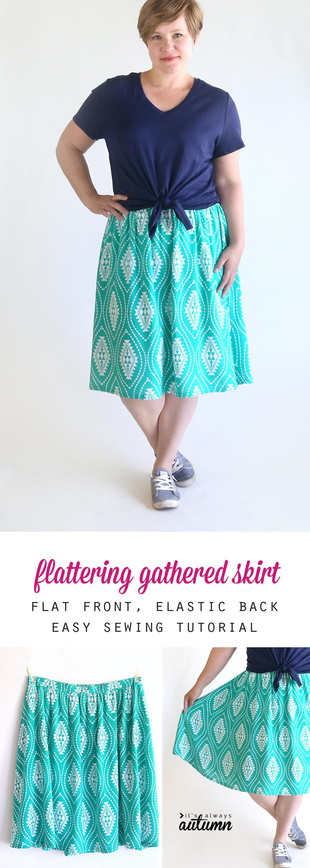 Perfect Flattering Gathered Skirt Summer