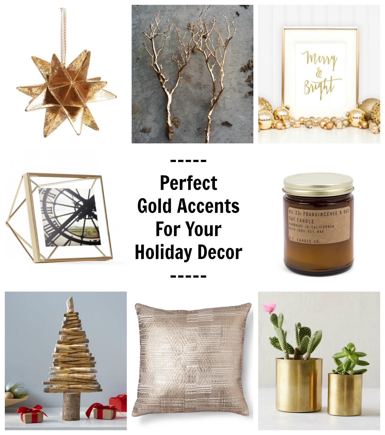 Perfect Gold Accents Your Holiday Decor