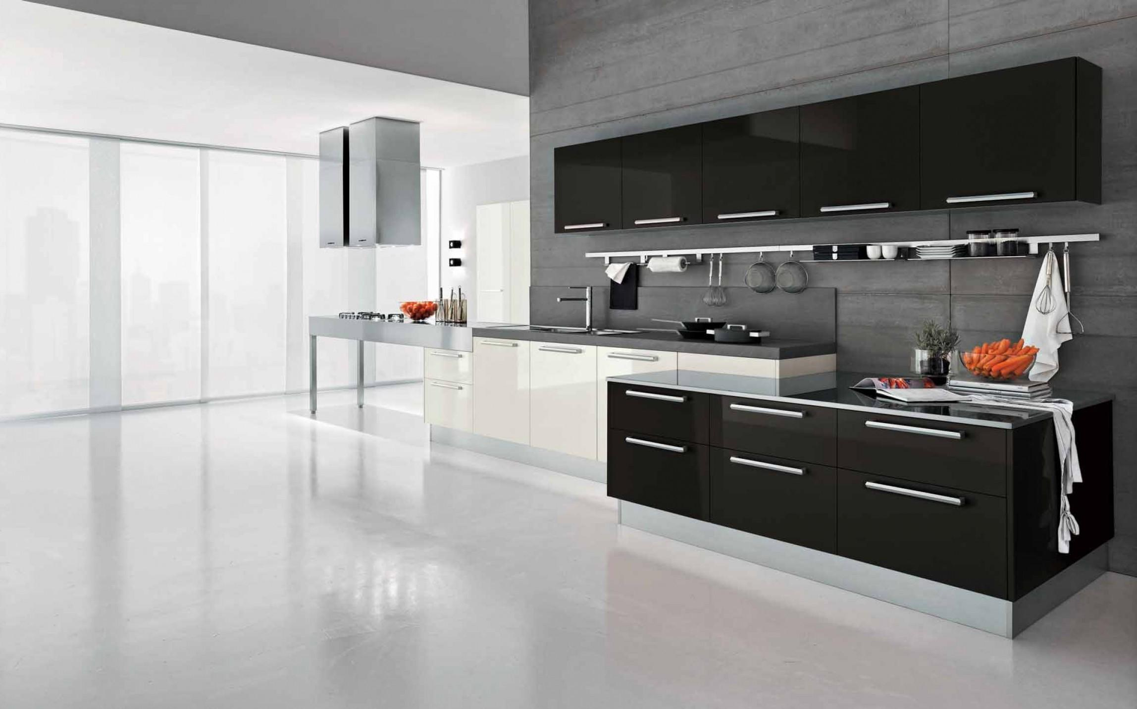 Perfect One Wall Kitchens Black Cabinets Single