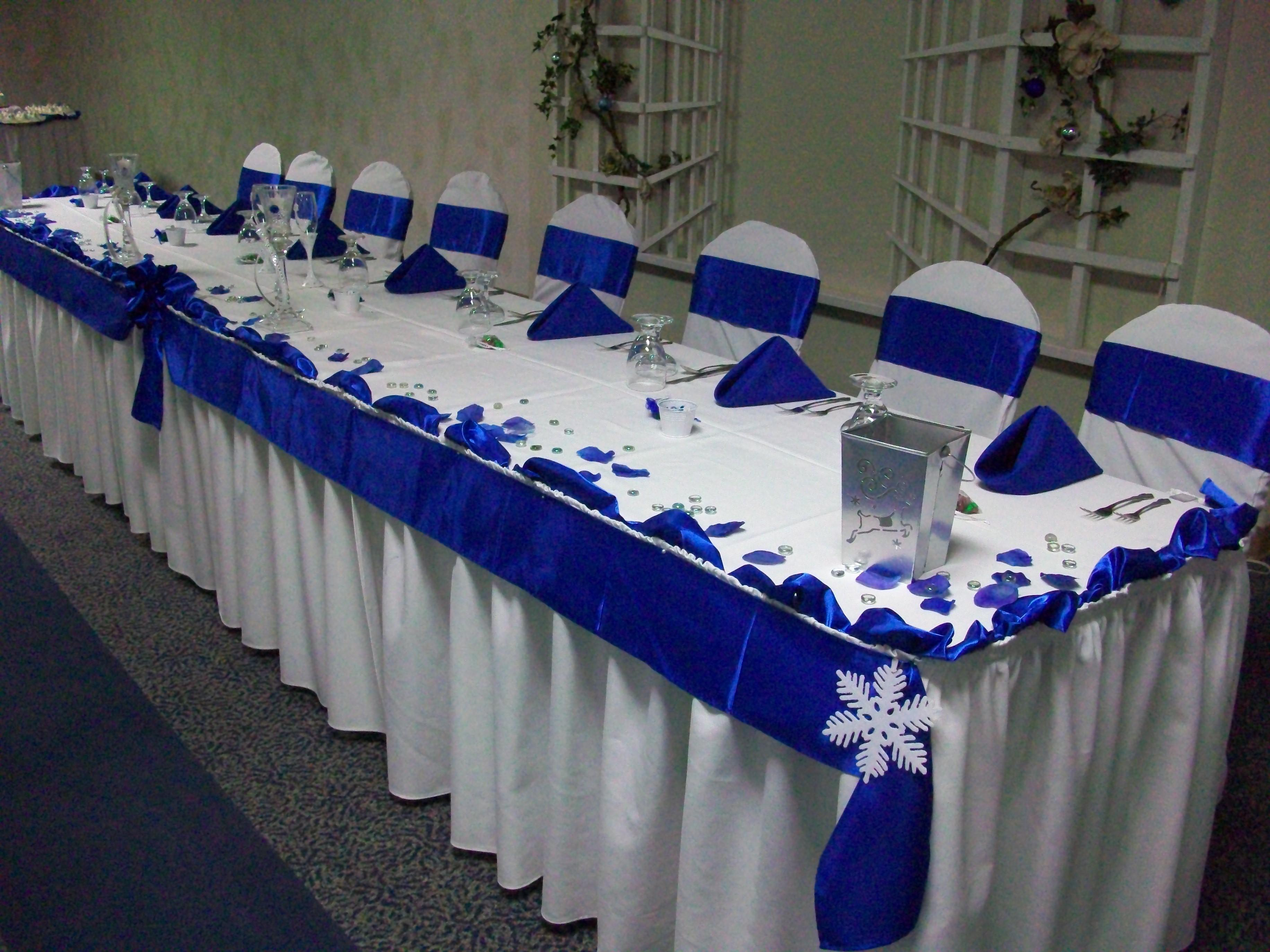 Perfect Winter Wedding Blue Silver Simple Design
