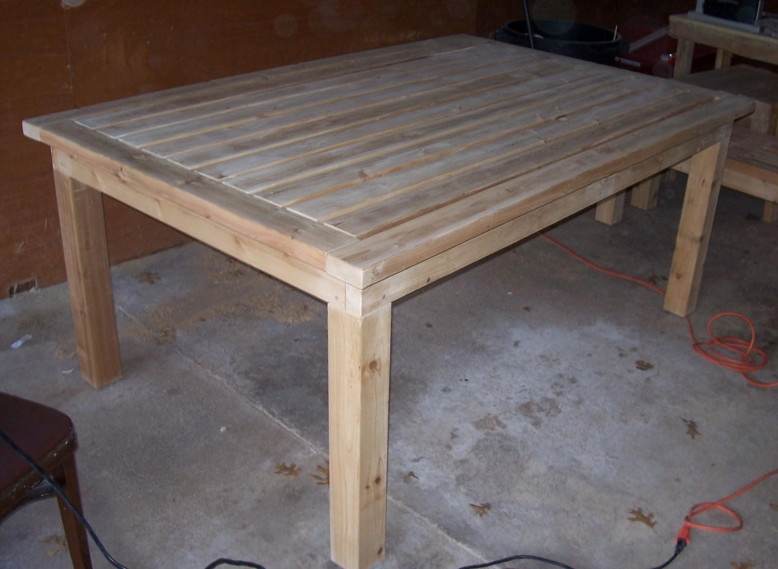 Perfection Made Simple Patio Table Bench Before Finish