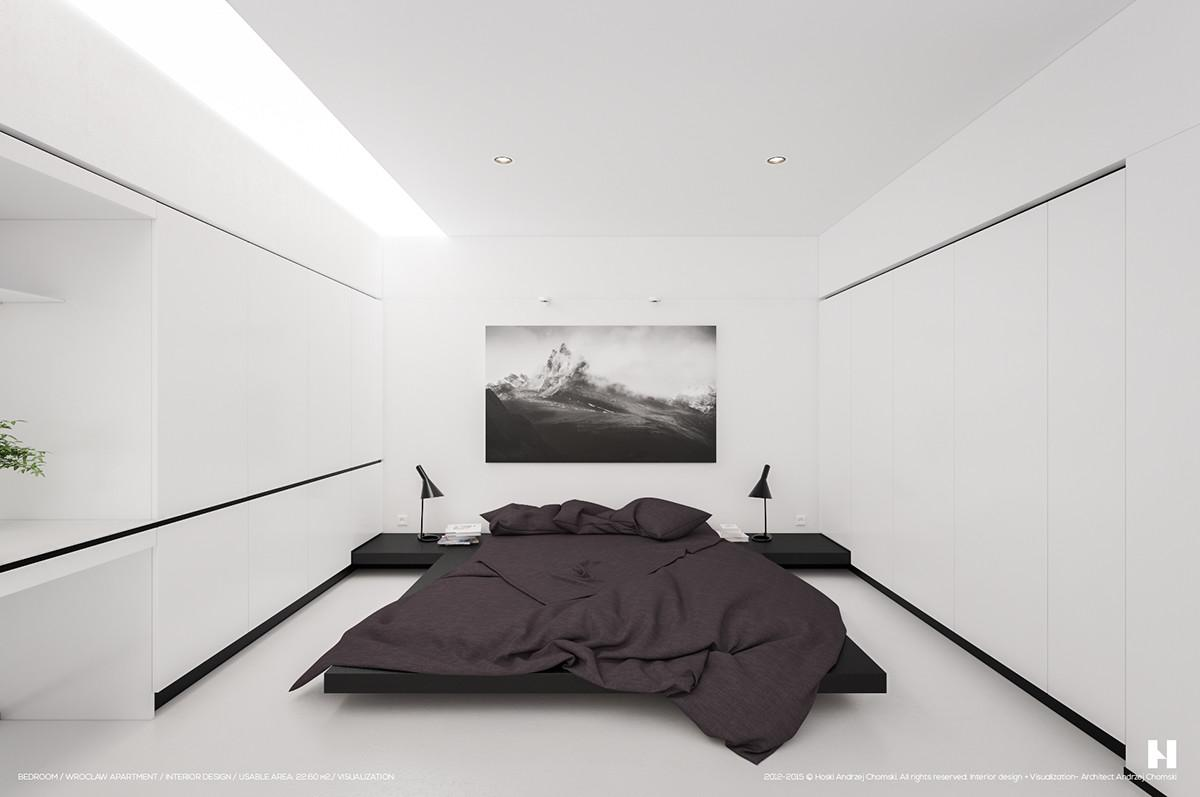 Perfectly Minimalistic Black White Interiors