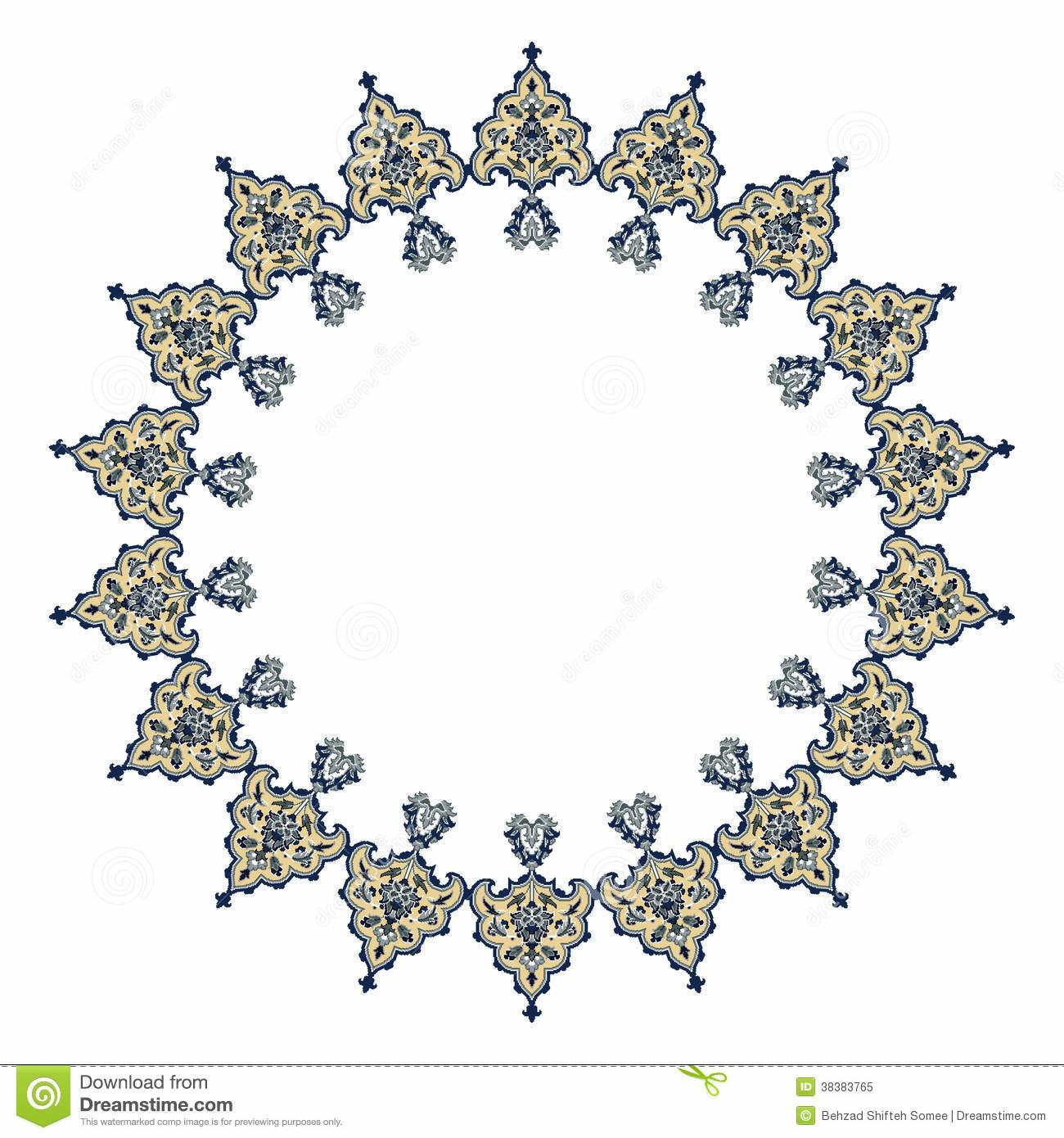 Persian Motif Design Royalty Stock