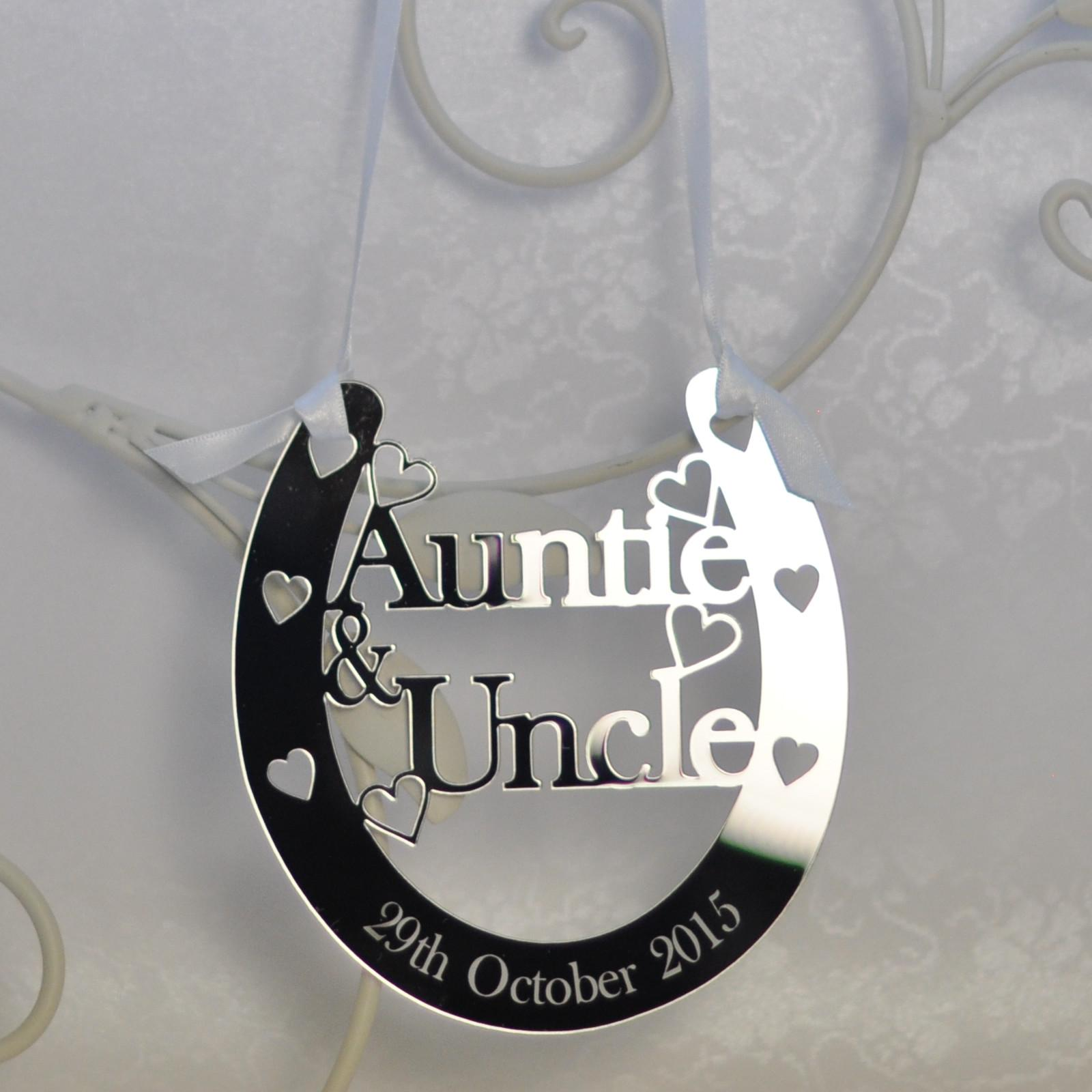 Personalised Auntie Uncle Good Luck Horseshoe Bridal