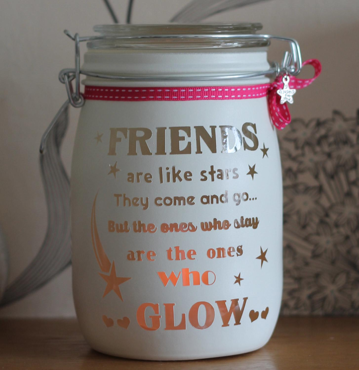 Personalised Glass Candle Jar Memory Friends Like