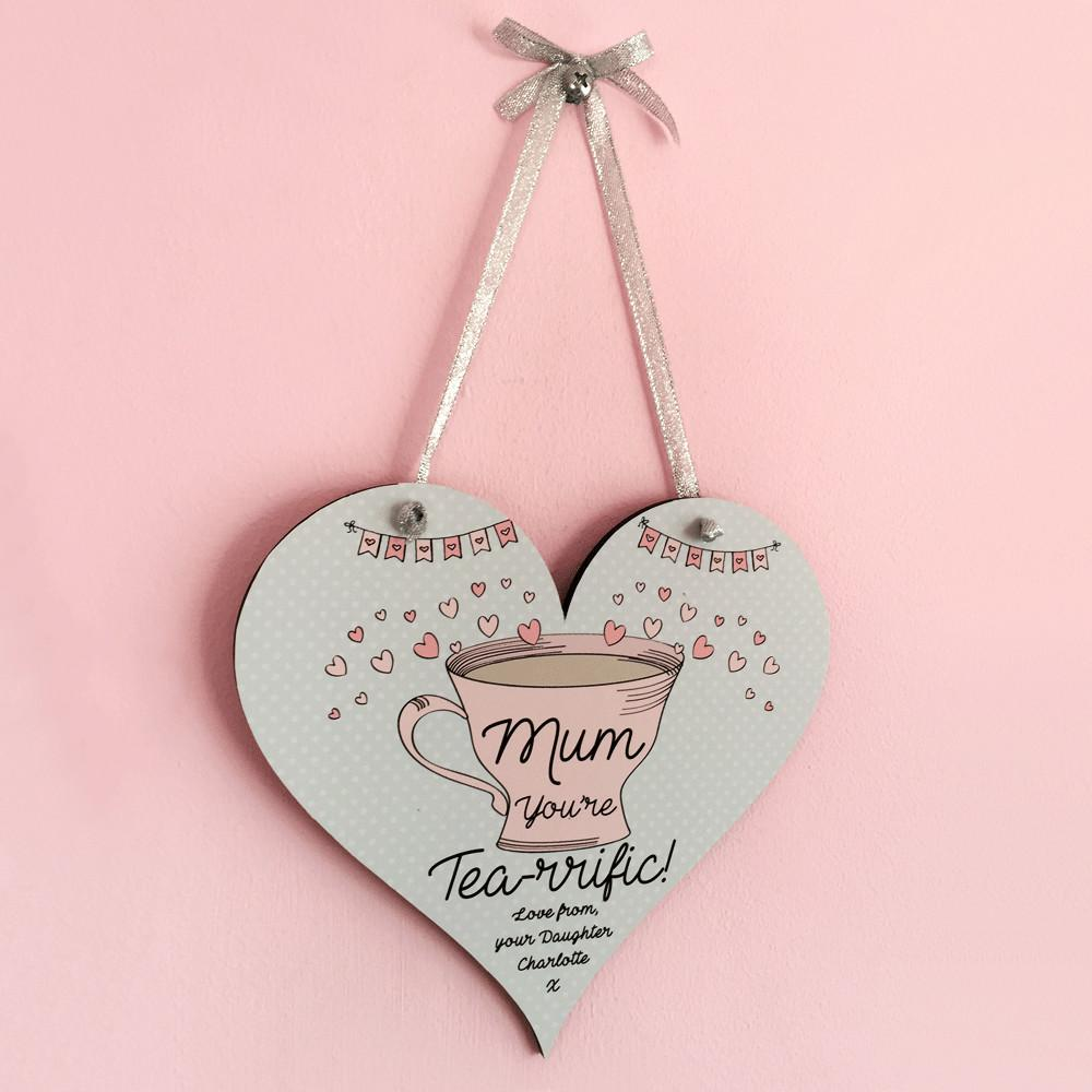 Personalised Mothers Day Plaque Tea Quote Kitchen Gifts