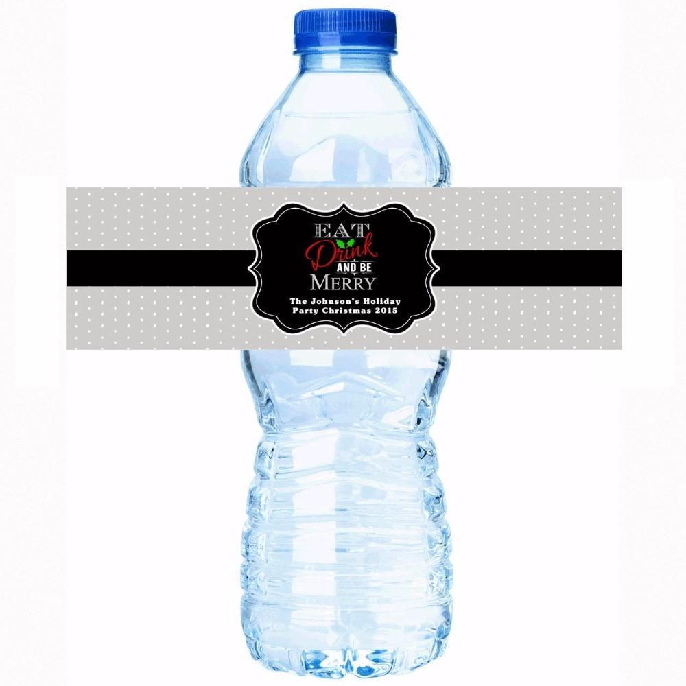 Personalised Stickers Eat Drink Personalized Water Bottle