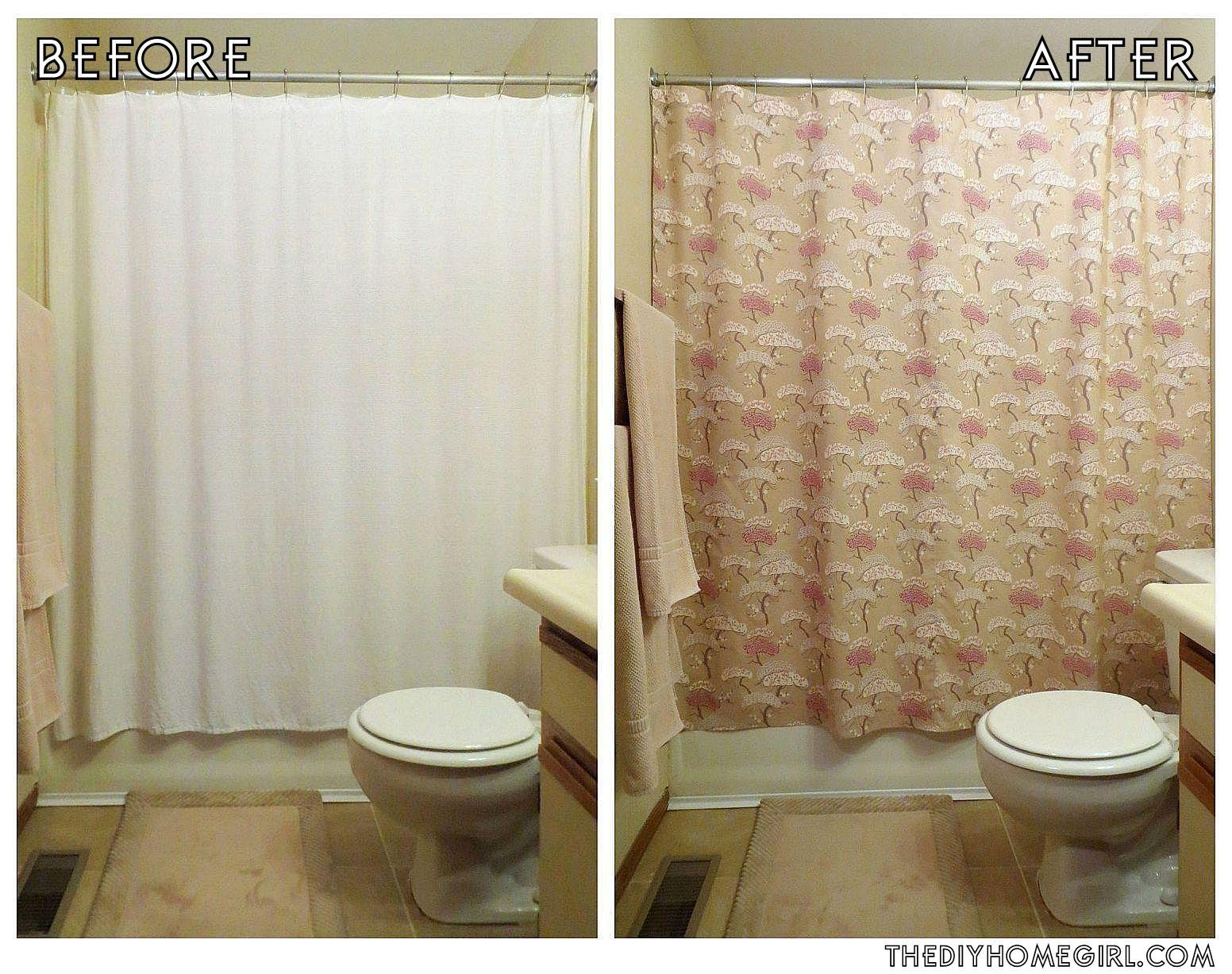 Personalize Your Bathroom Diy Shower Curtain