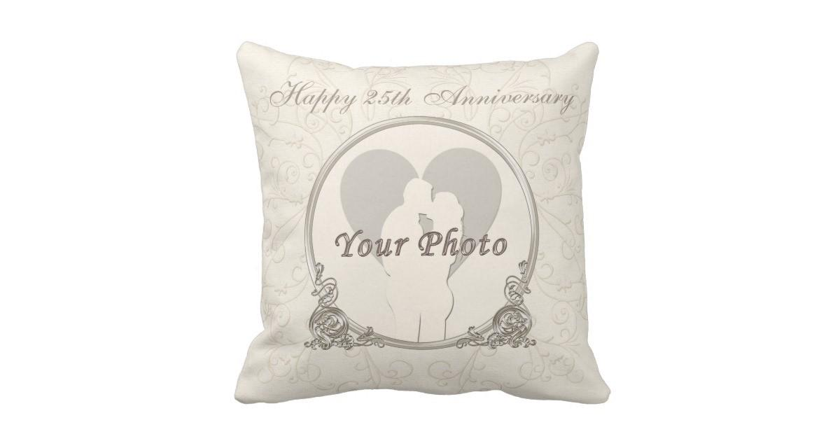 Personalized 25th Anniversary Gifts Text Throw