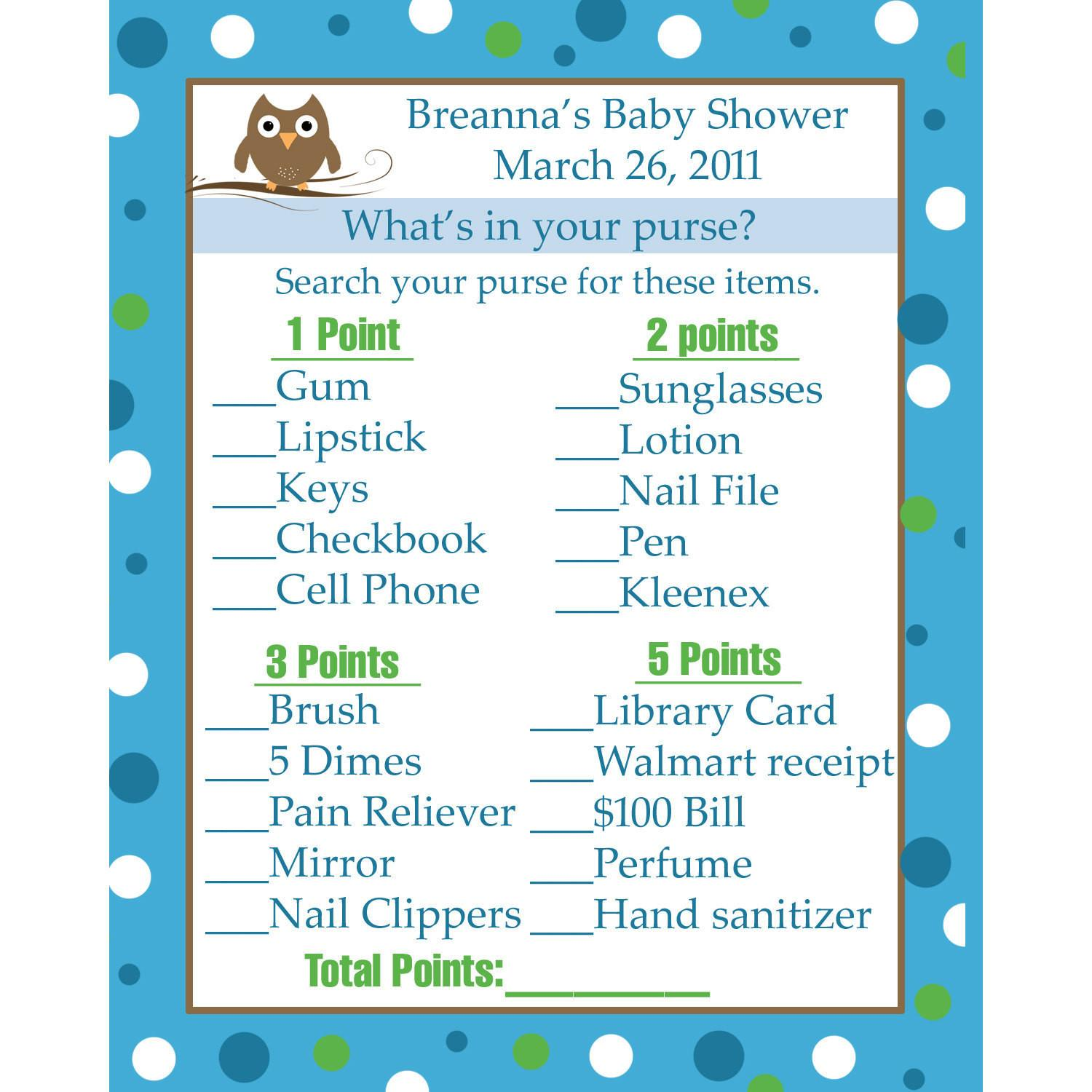 Personalized Baby Shower Game Cards Partyplace