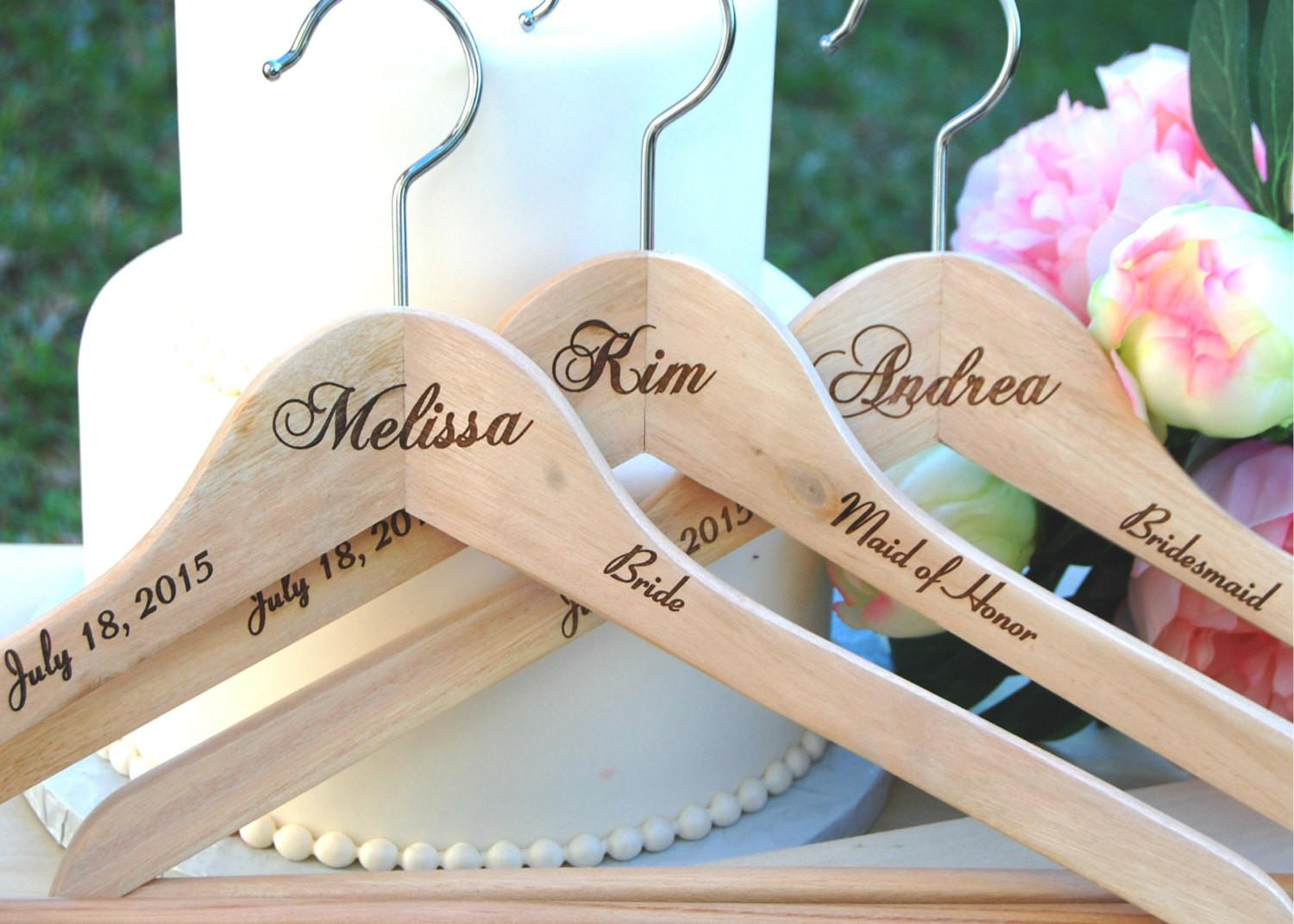 Personalized Bridesmaid Gift Name Hanger