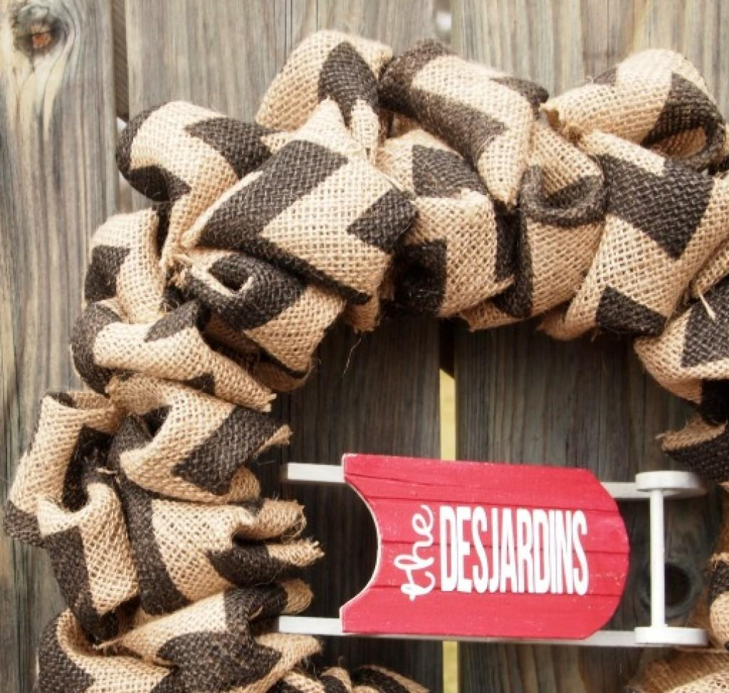 Personalized Bubble Burlap Wreath Becoming Martha