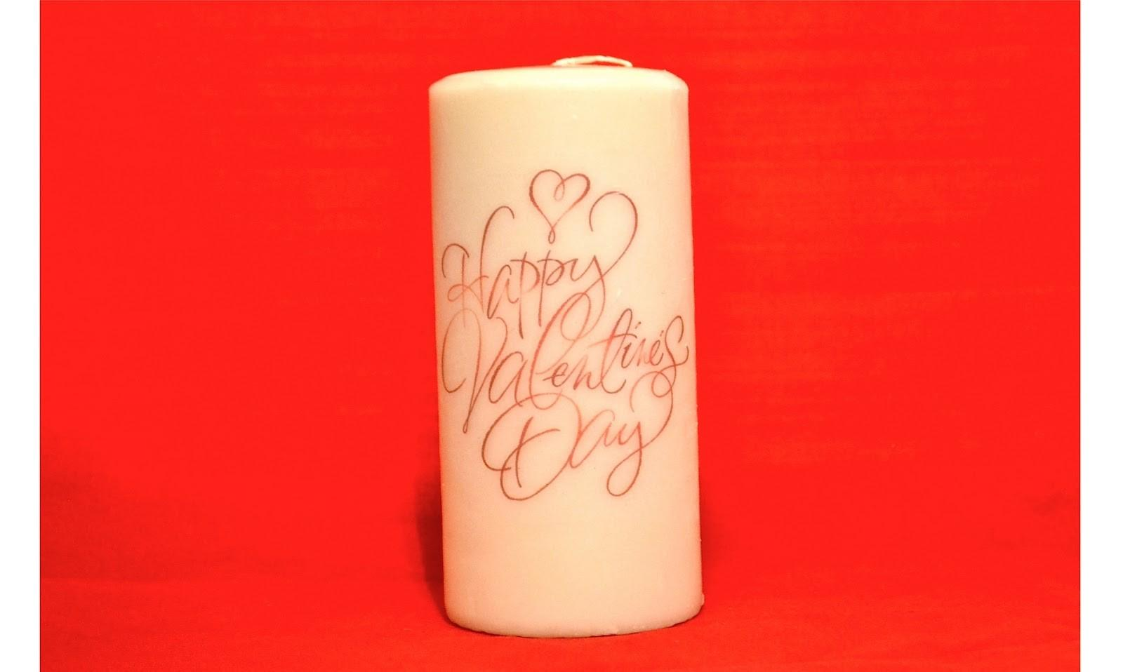 Personalized Candles Valentines Day Valentine
