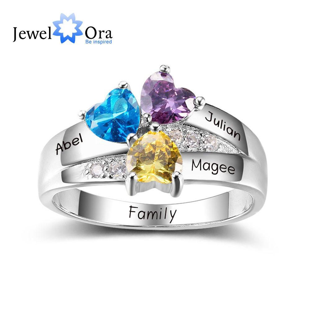 Personalized Engrave Birthstone Jewelry Diy 925 Sterling