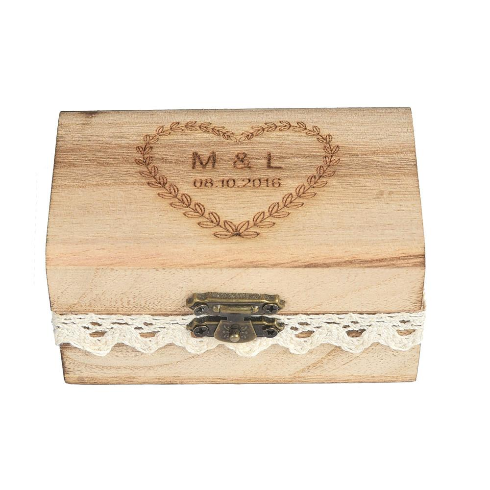 Personalized Engraved Gift Rustic Wedding Ring Bearer