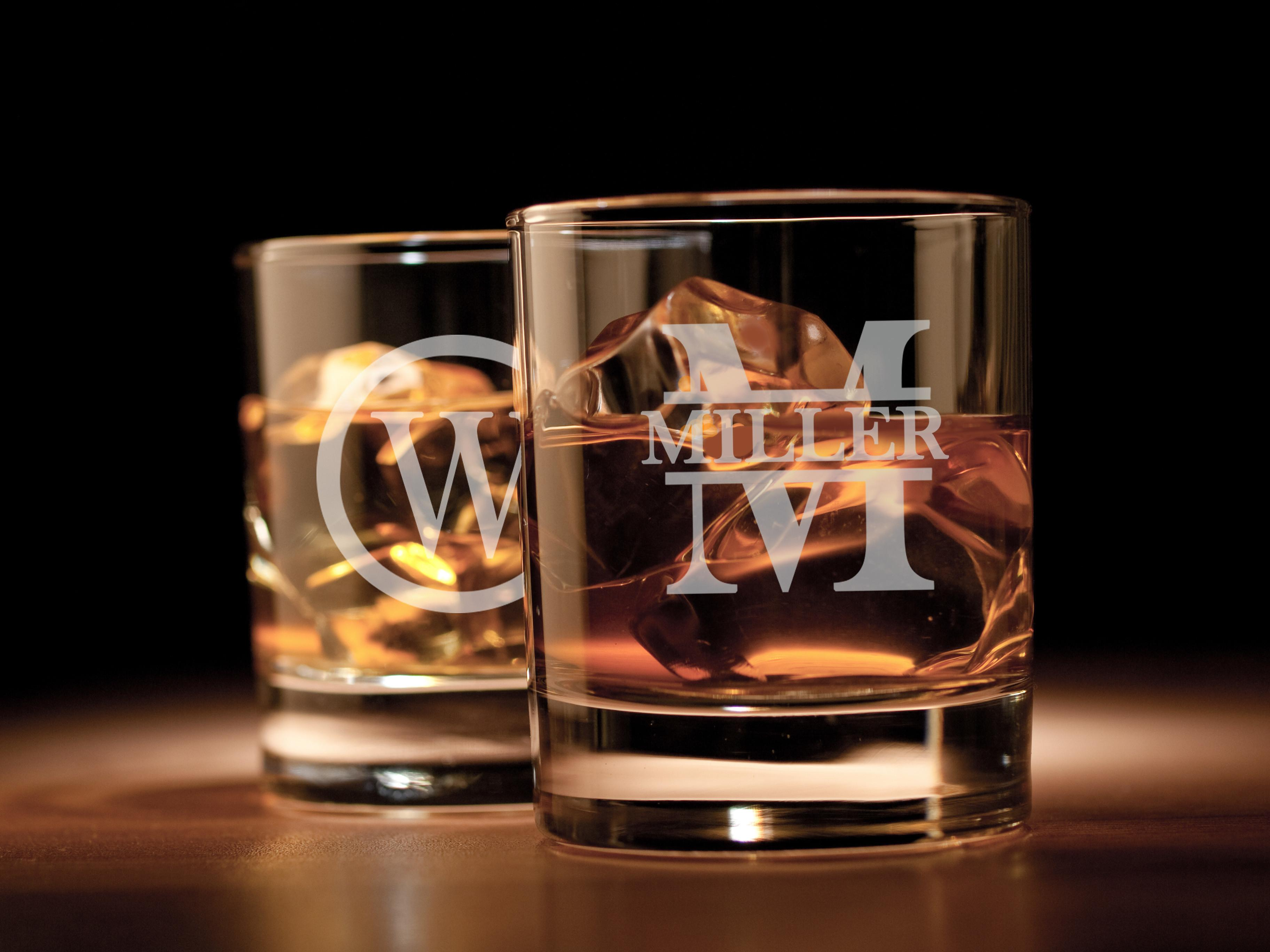 Personalized Engraved Lowball Bourbon Drinking