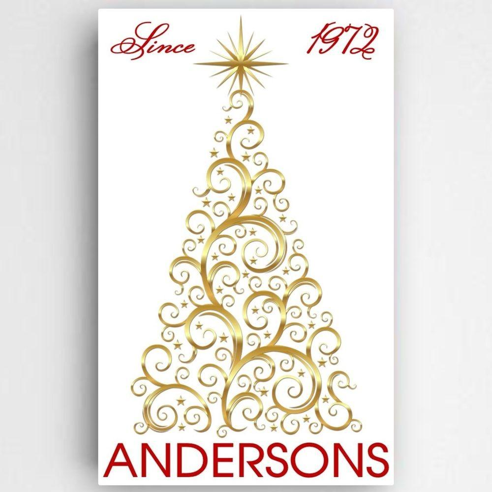 Personalized Gold Christmas Tree Canvas Wall Art Print